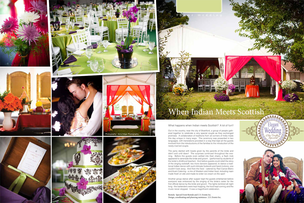 jjl events theme wedding 1 - Published | Our Photos featured in Elegant Weddings Magazine!