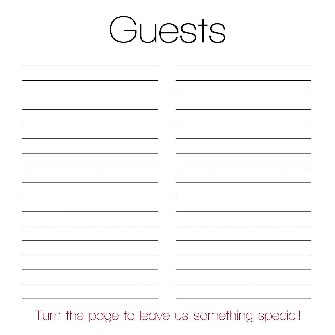 000001 - Brian & Megan | Custom Guestbook Design