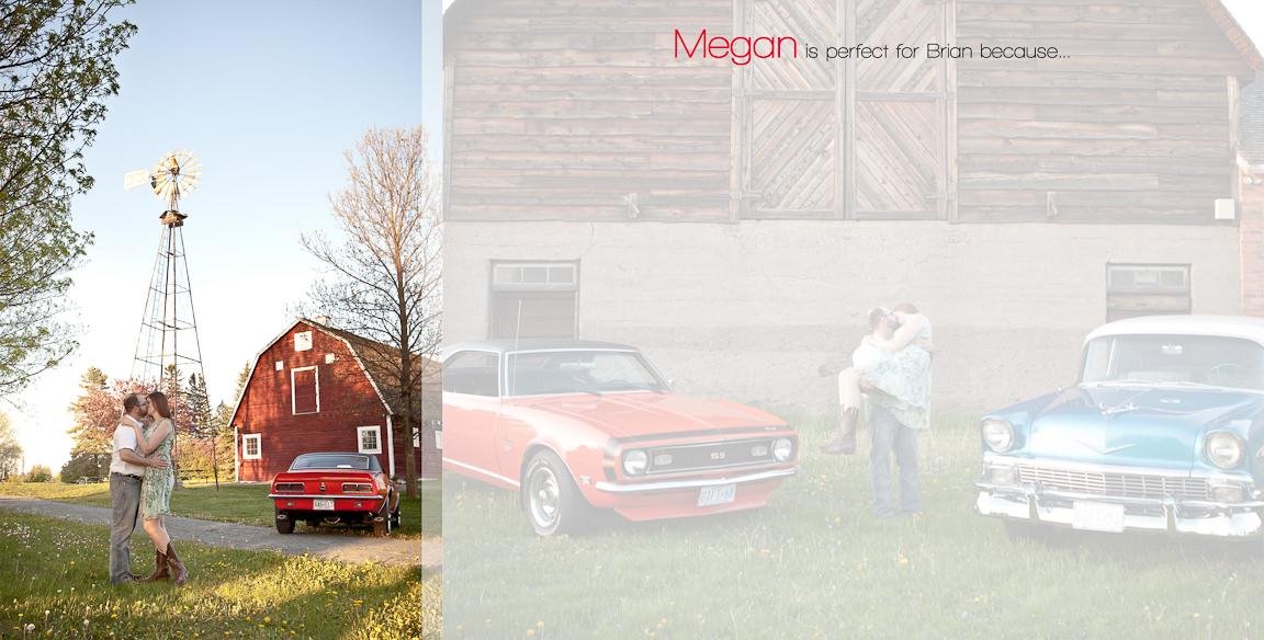 004005 - Brian & Megan | Custom Guestbook Design