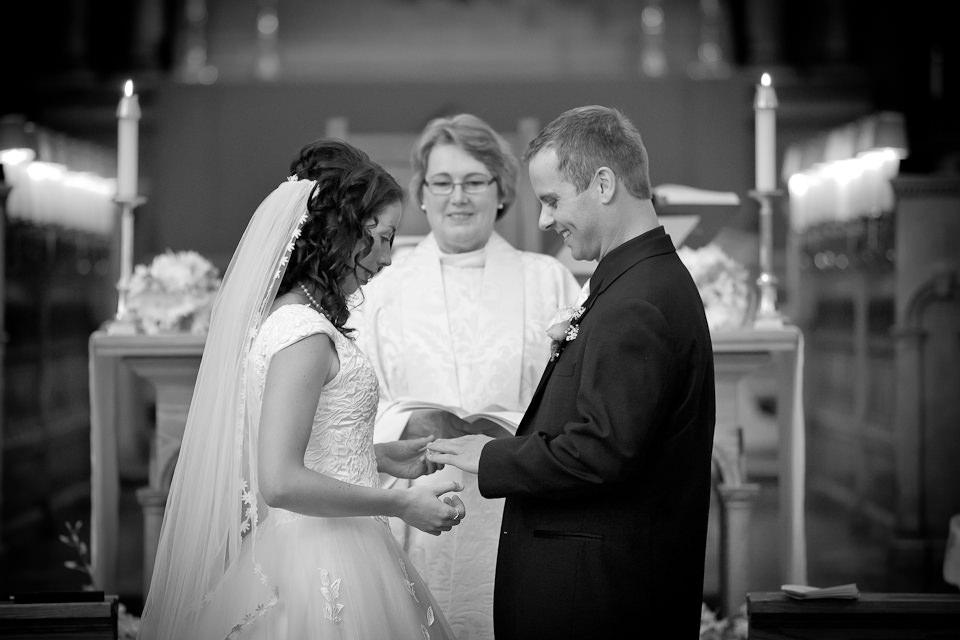 Wedding photography in a church