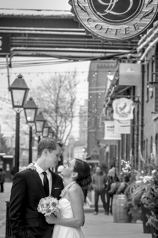 distillery district wedding pictures