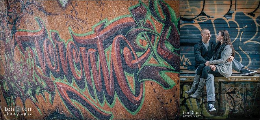 graffiti alley toronto, graffiti alley, unique engagement locations toronto, graffiti alley engagement, engagement photos graffiti alley
