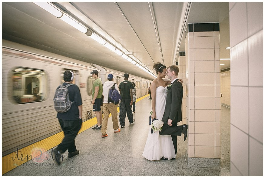 unique photography locations in toronto, indoor photography locations in toronto, ttc wedding photos, ttc wedding photography, subway wedding photos