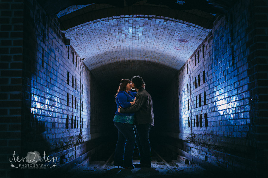 Evergreen Brickworks Engagement Photos | Andrea & Steve