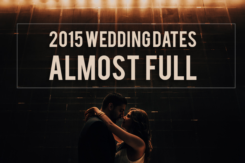 Toronto Wedding Photographer – An Update for 2015 Bookings