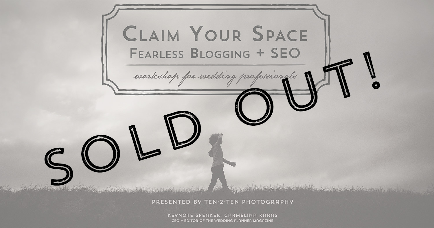 claim your space workshop promo banner SOLD OUT - Claim Your Space Workshop: April 21st
