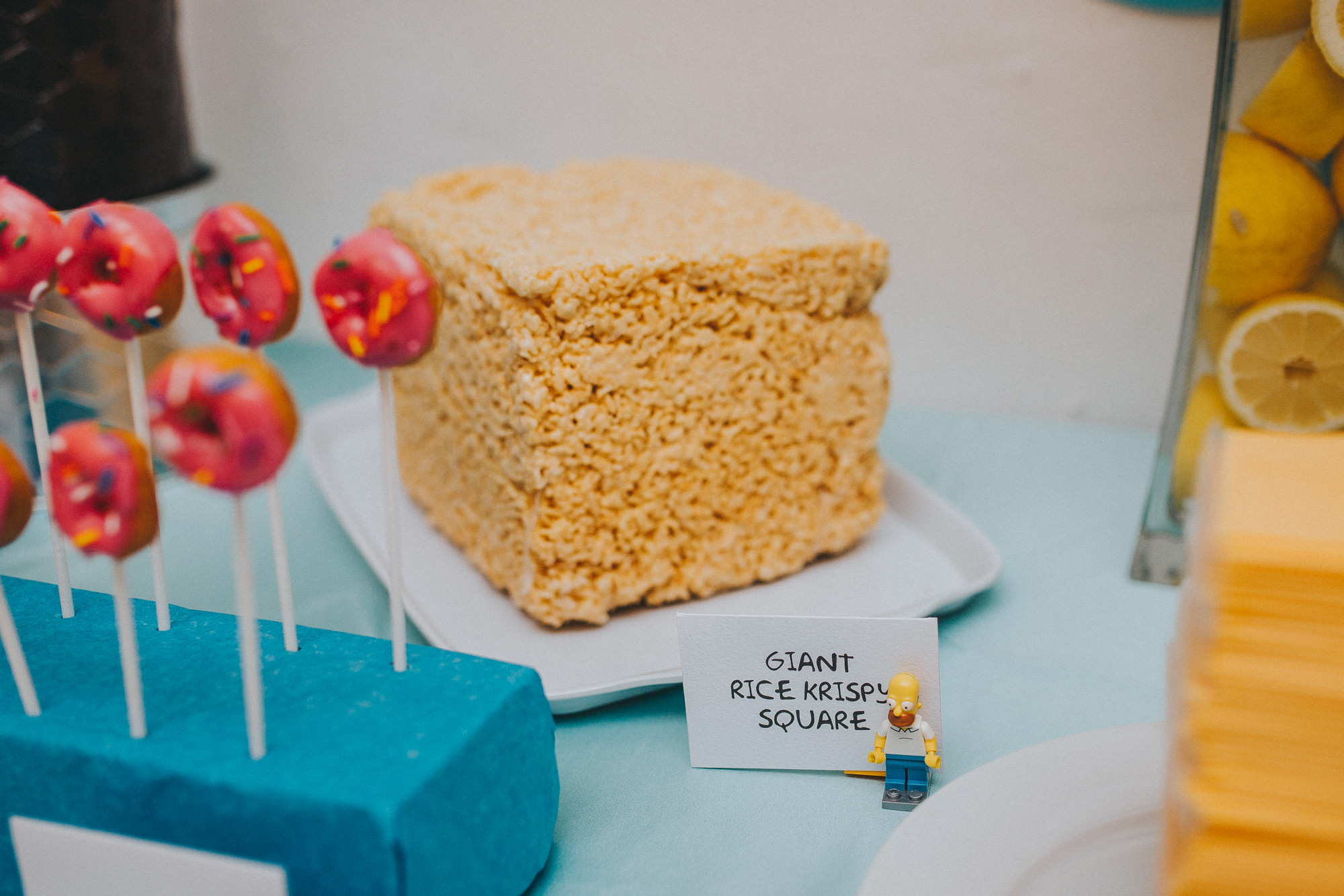 the simpsons baby shower, simpsons inspired food, simpsons, simpsons themed party, simpsons themed wedding, toronto wedding photographer