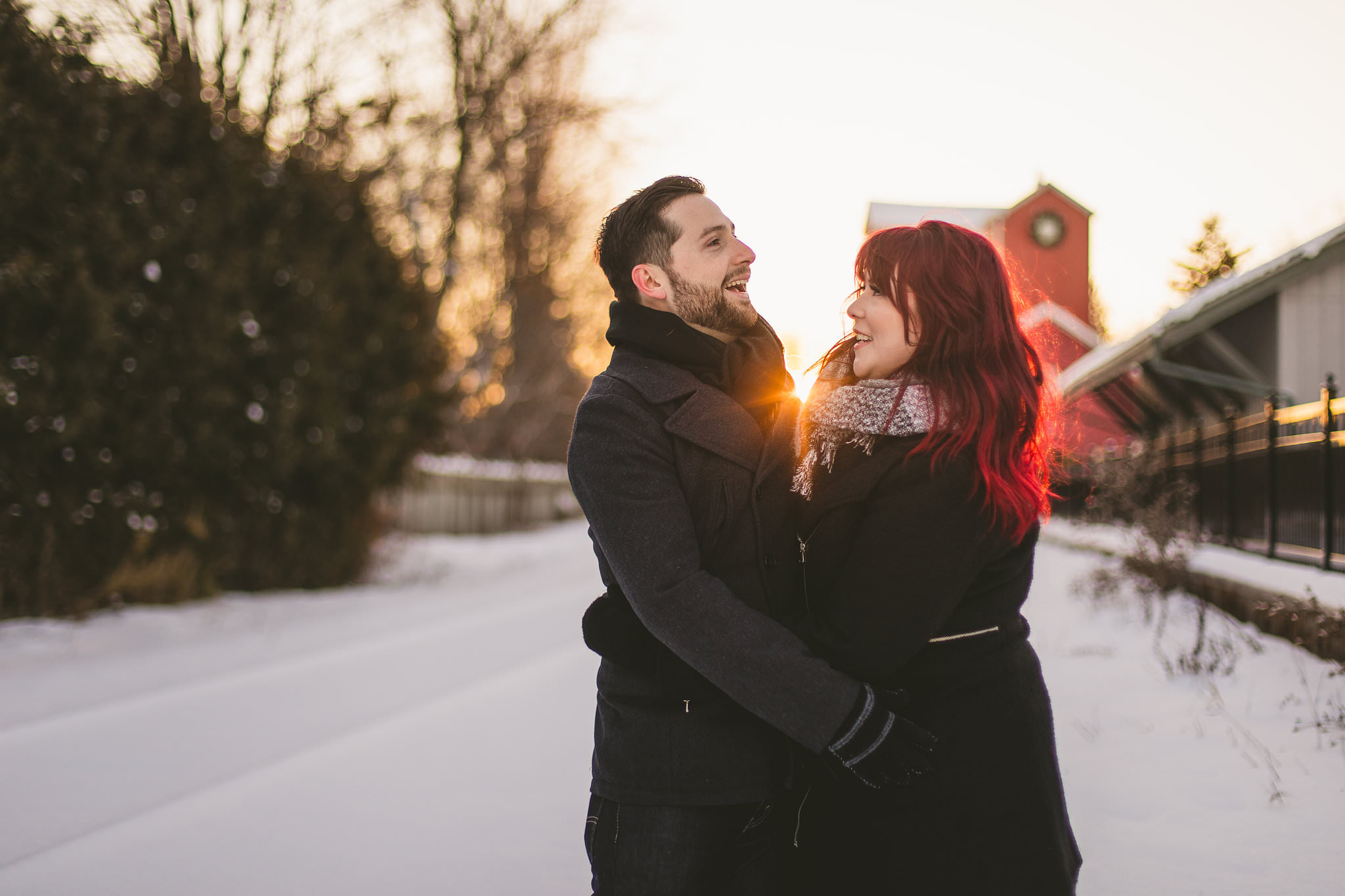 Unionville Winter Engagement Photos