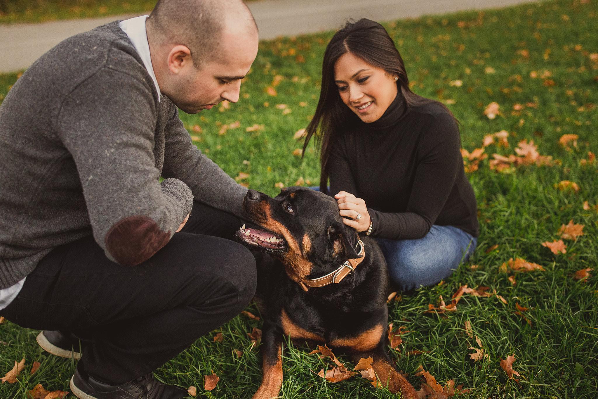 petticoat creek engagement photos, pickering engagement photo locations, engagement photos with your dog, engagement photo ideas with your dog