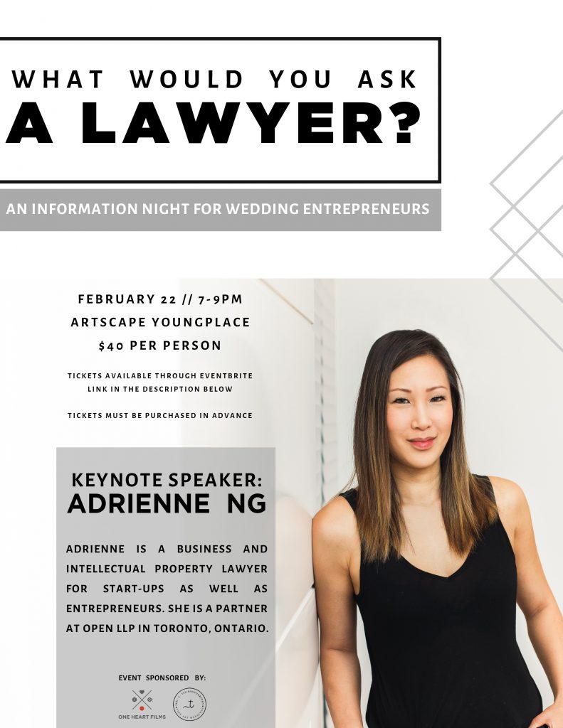 what would you ask a lawyer flyer final 791x1024 - A Funny Thing about the Wedding Industry