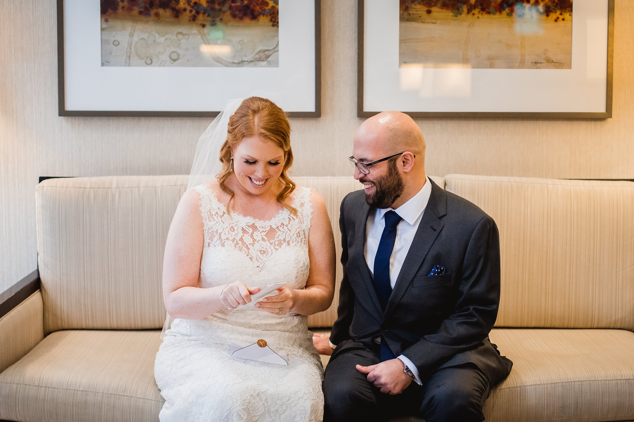 exchanging letters on the wedding day toronto