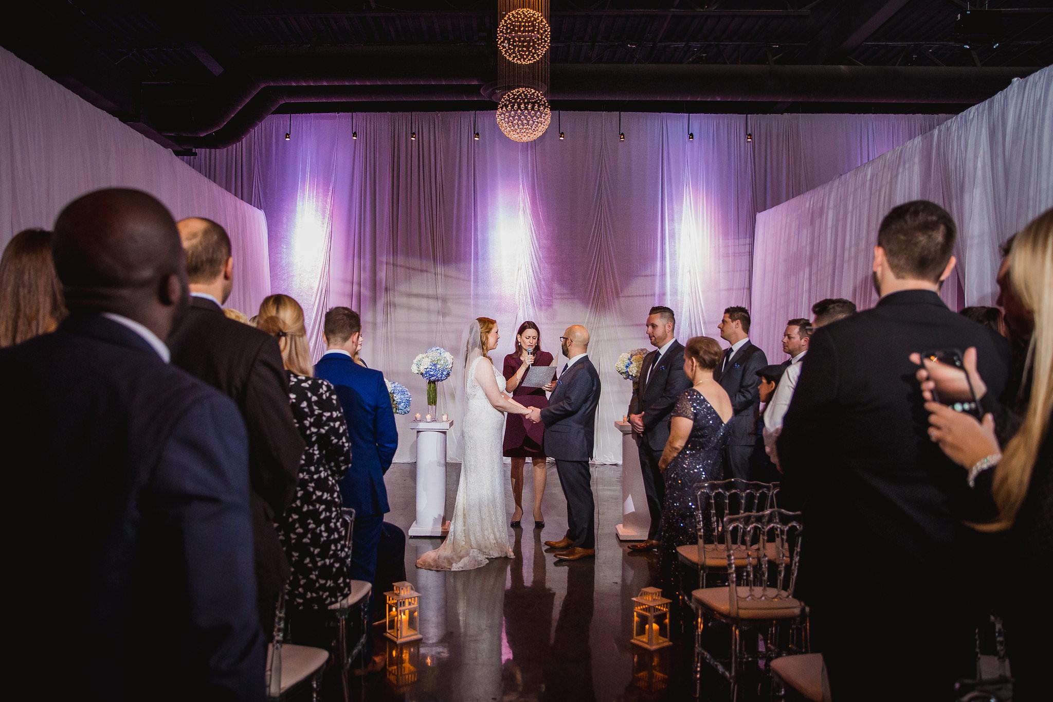 wedding ceremony at york mills gallery