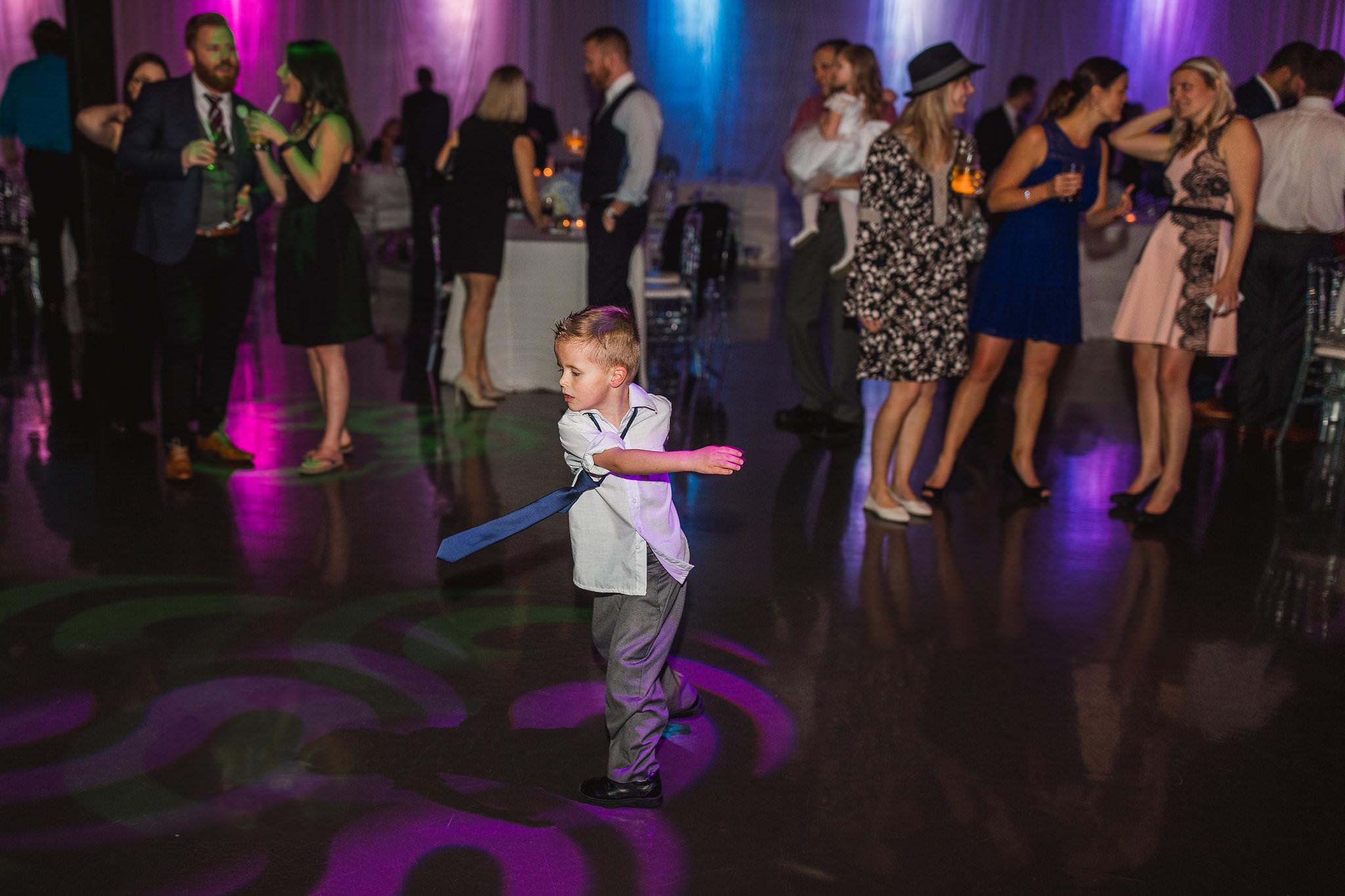 kids dancing during reception