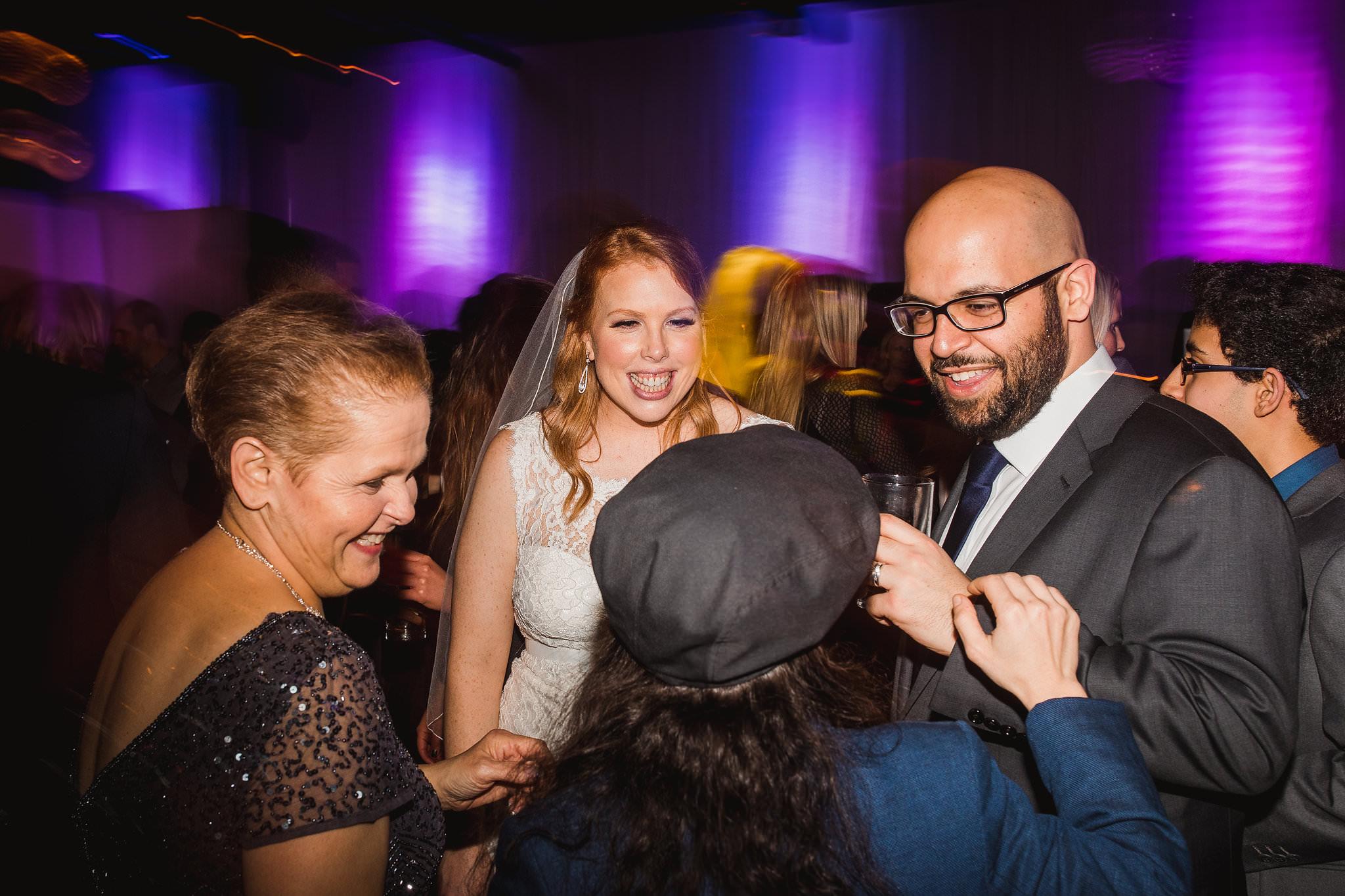 york mills gallery wedding reception dancing