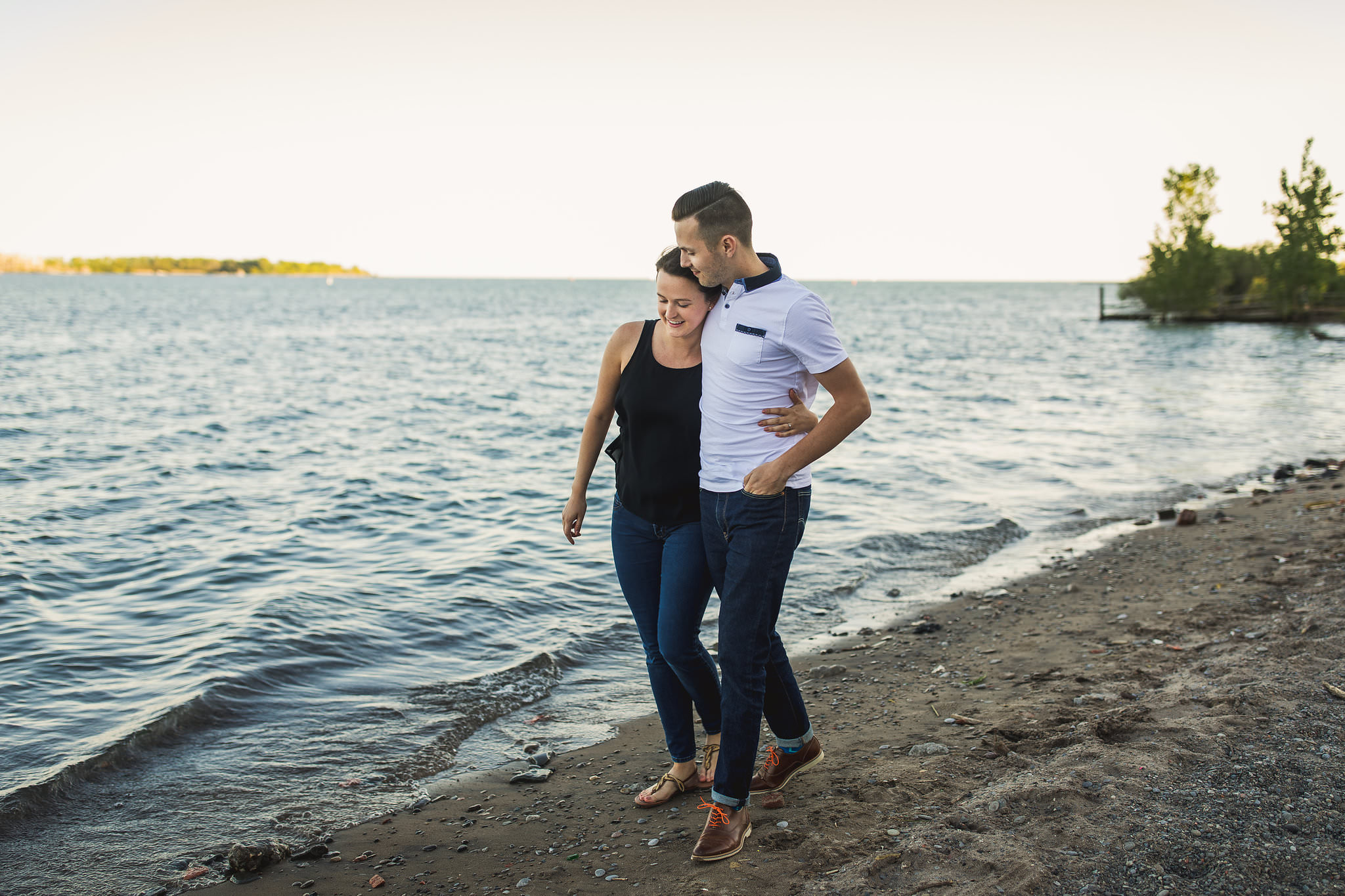 hipster beach engagement photos in toronto