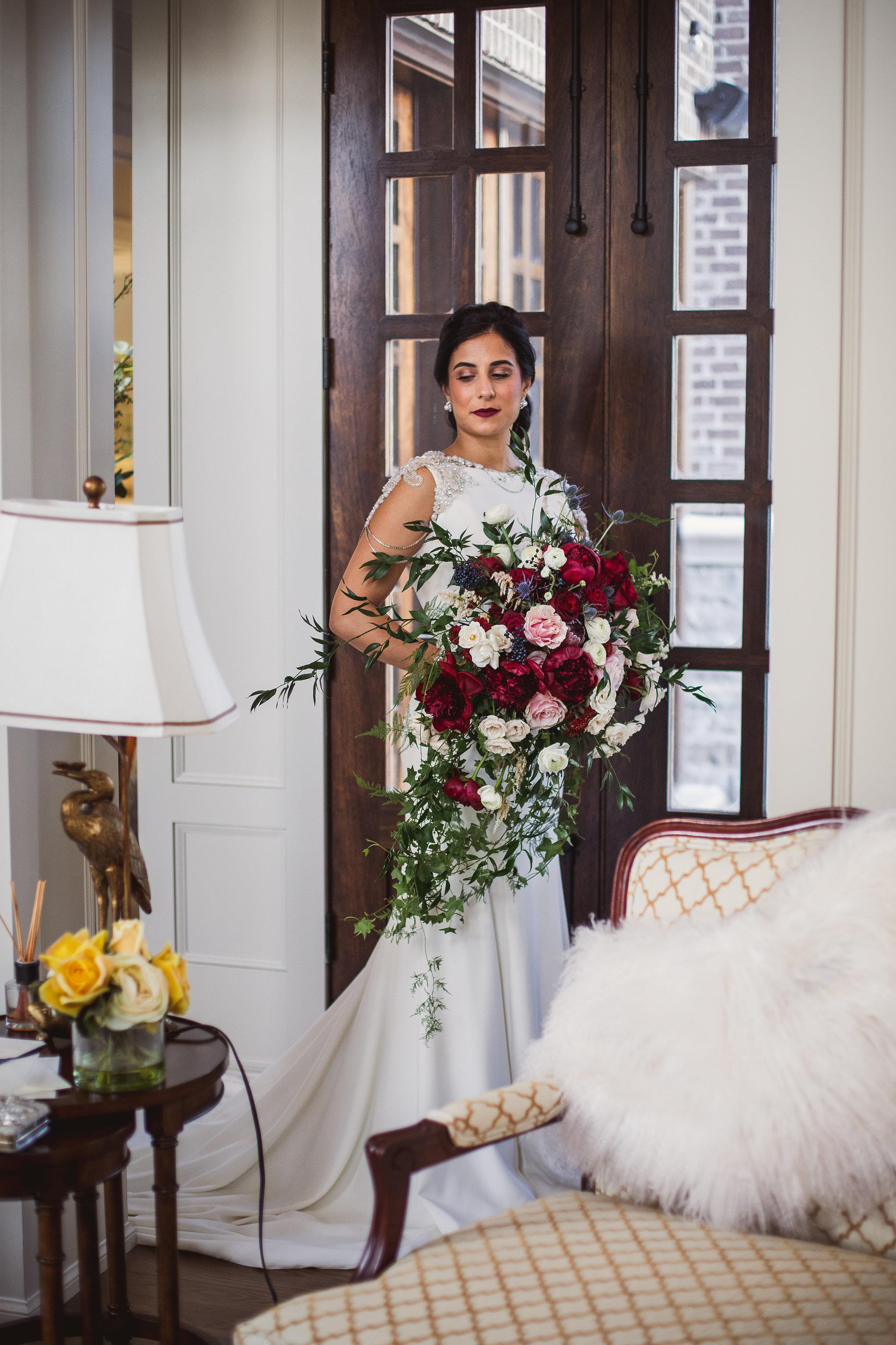 winter bridal photos