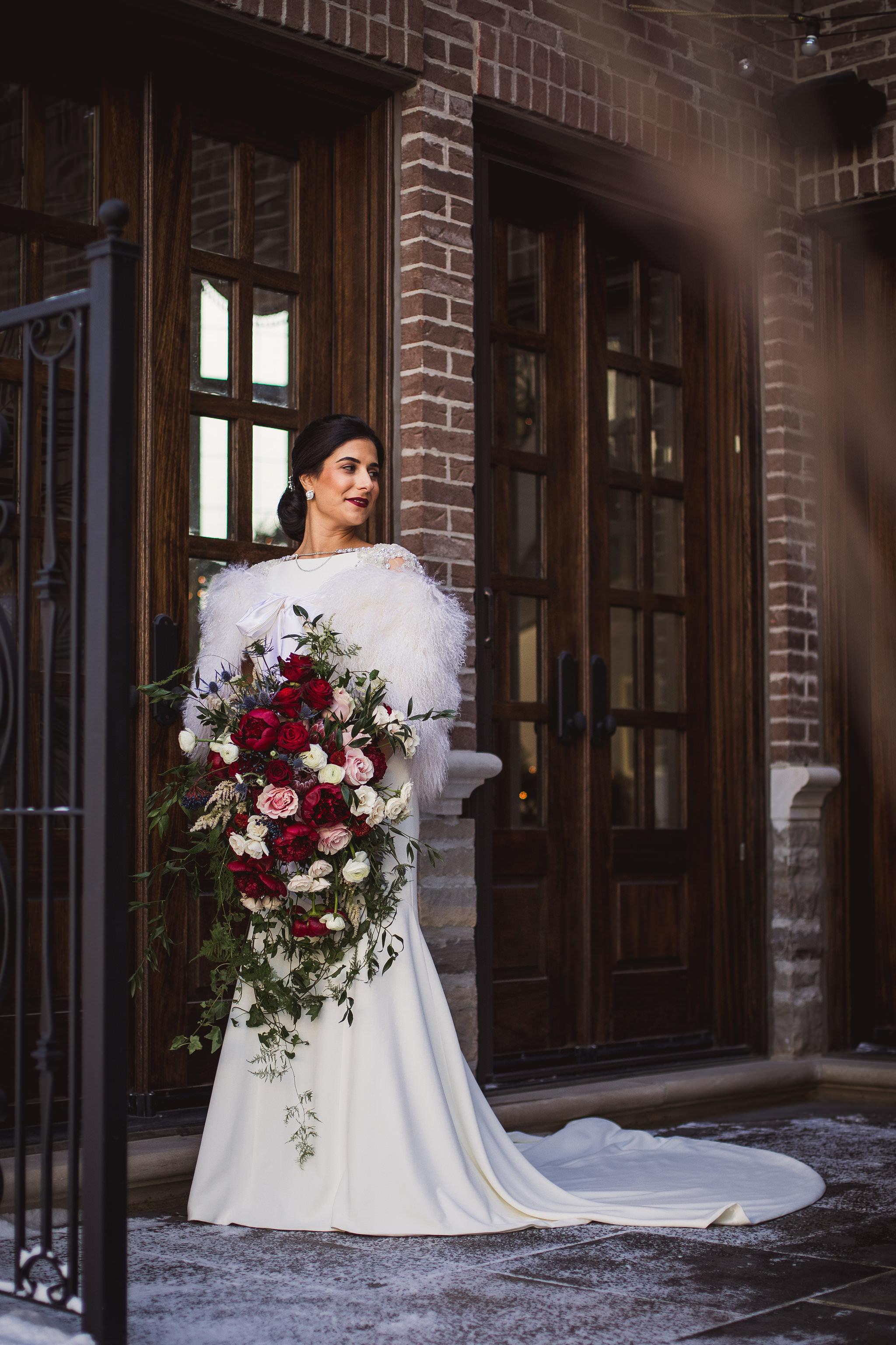 bridal portraits at home