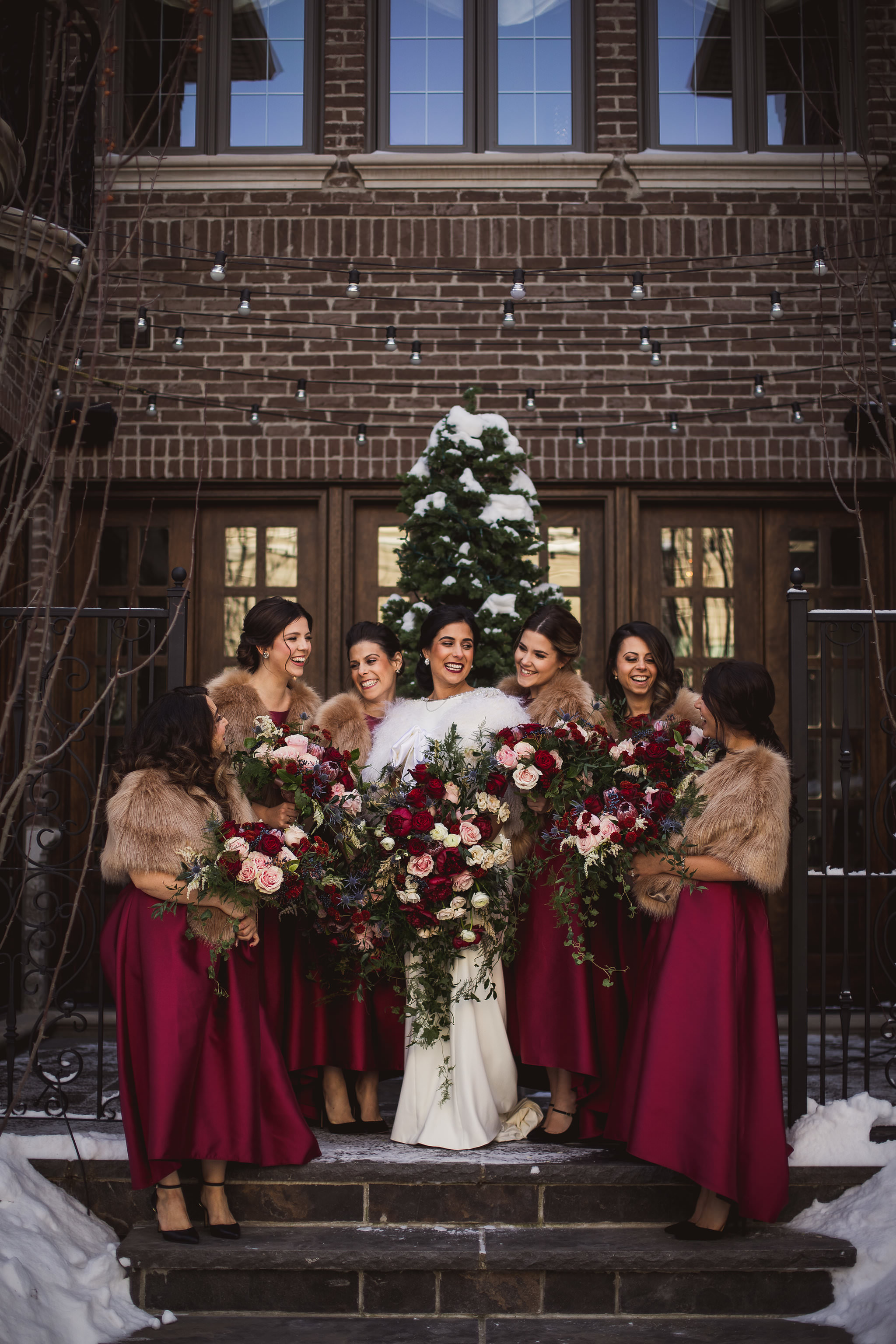 toronto winter wedding photos