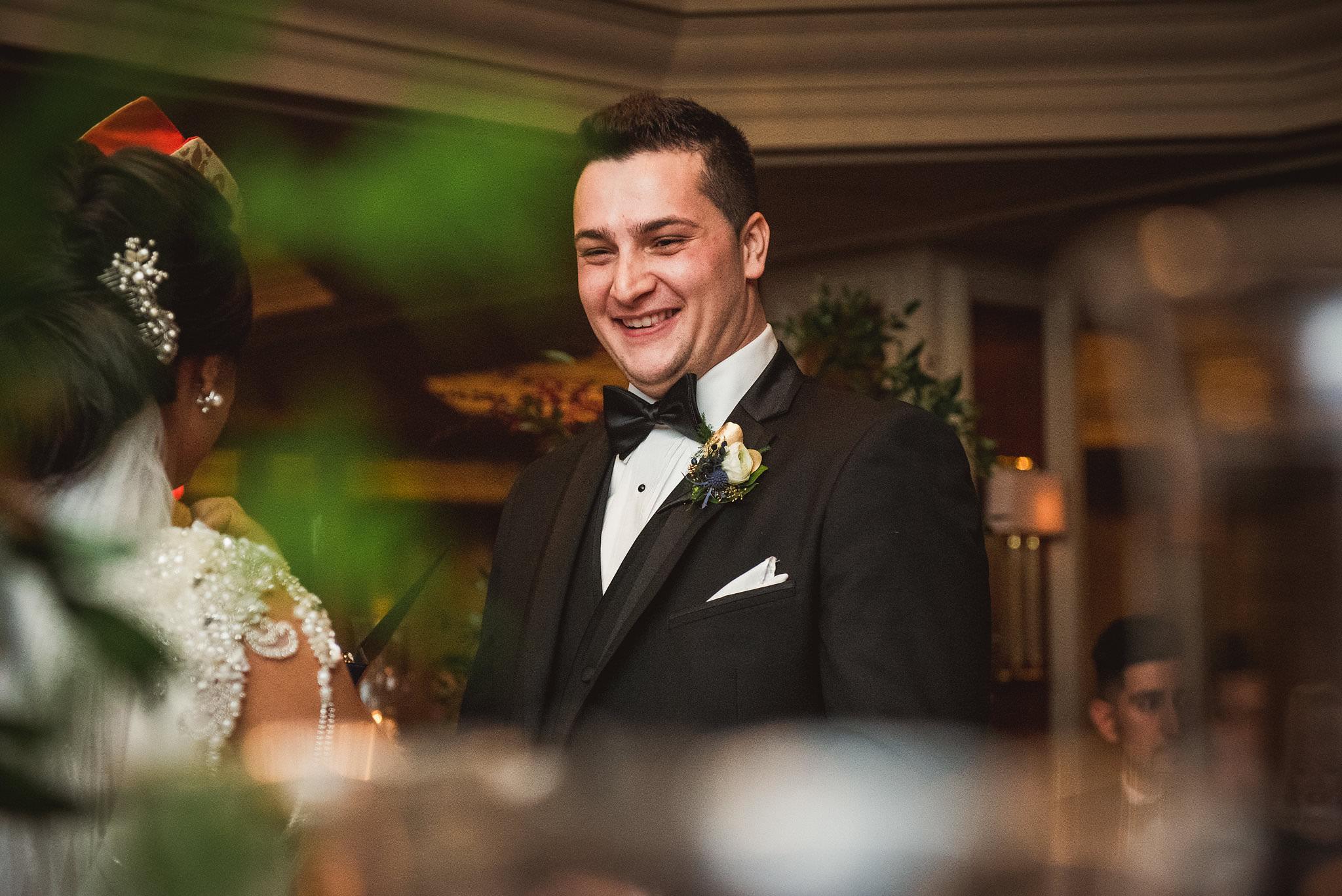 wedding ceremony at omni king edward