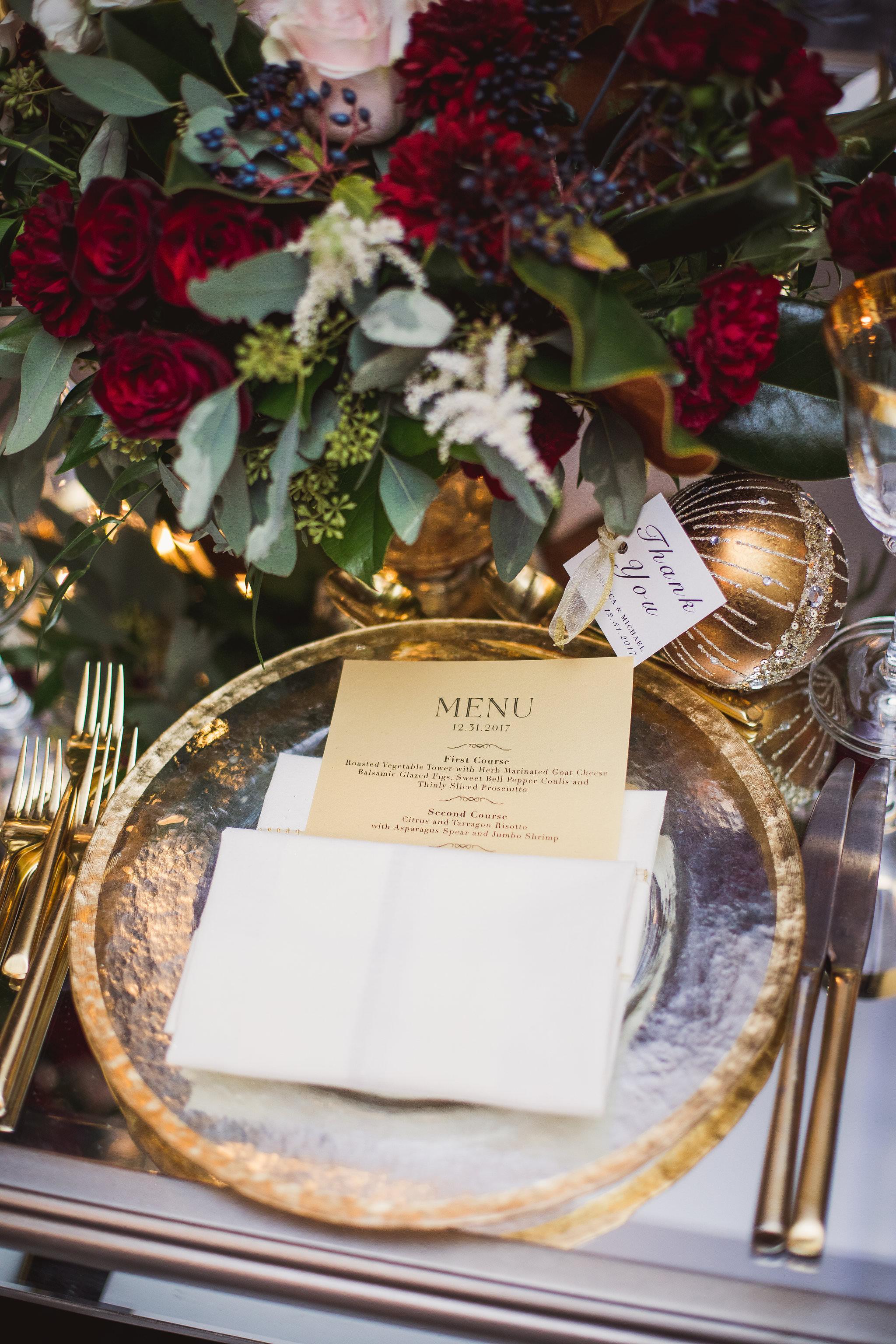 plate setting king edward hotel wedding