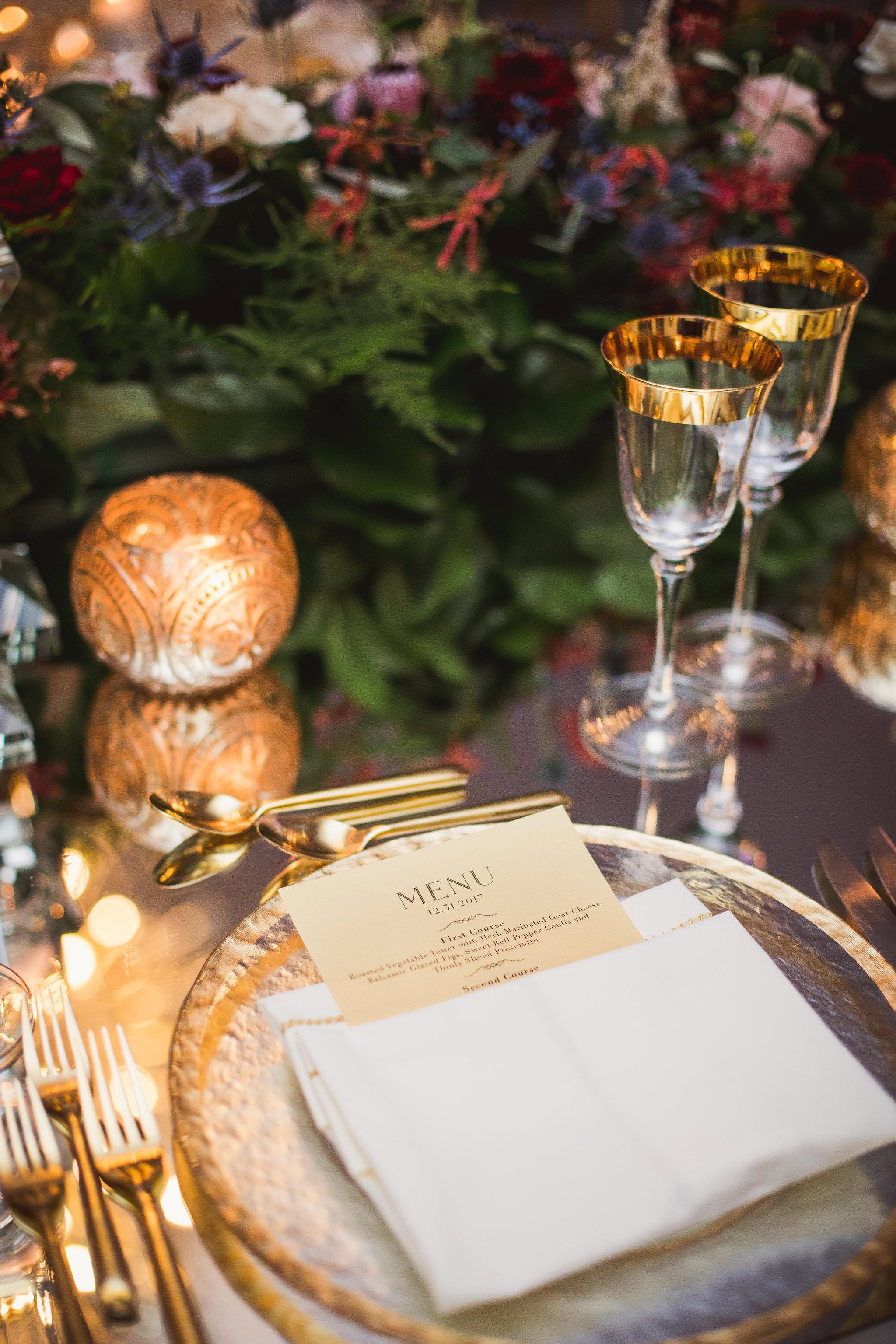 winter wedding decor king edward hotel