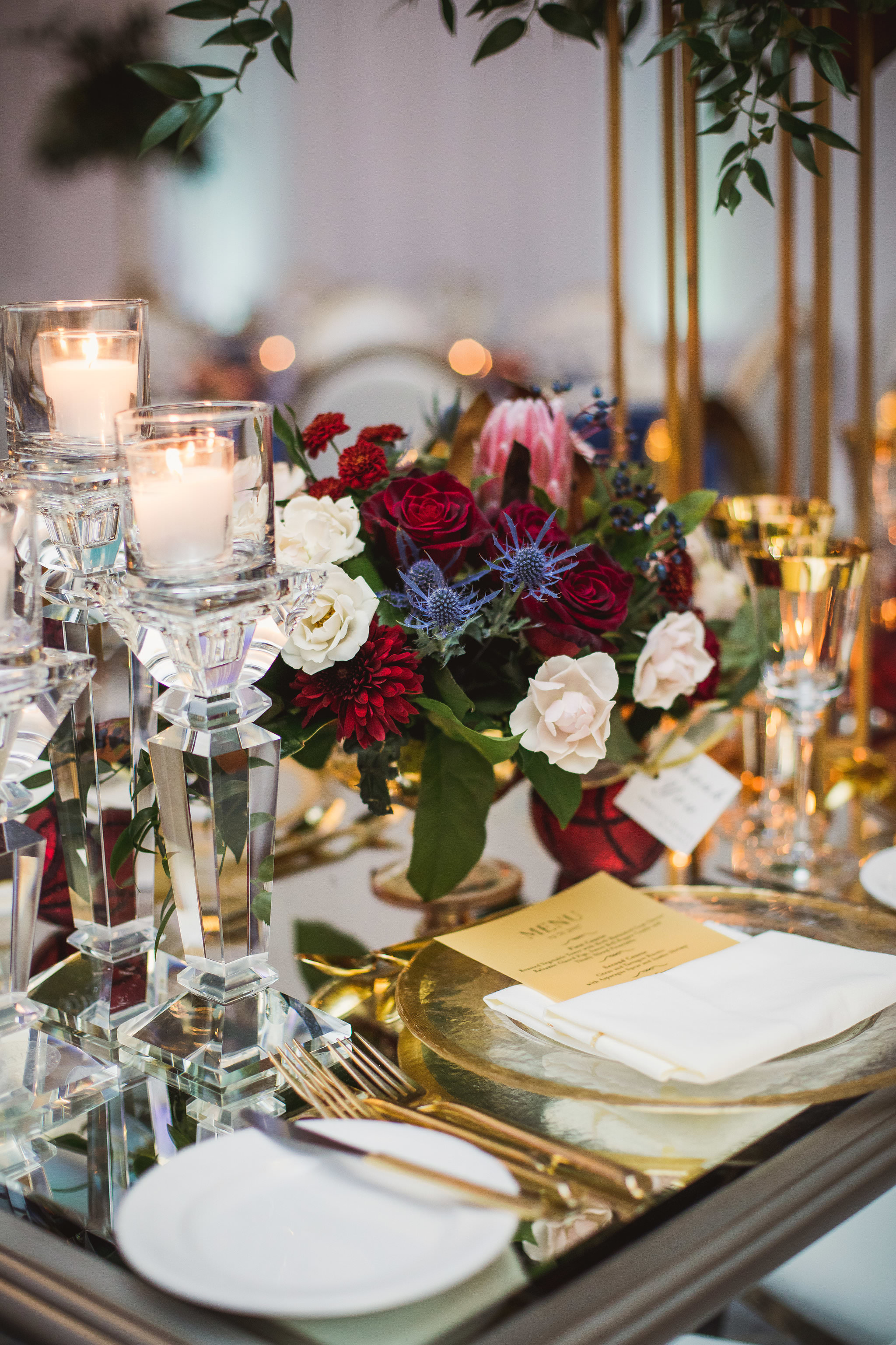 winter wedding decor omni king edward