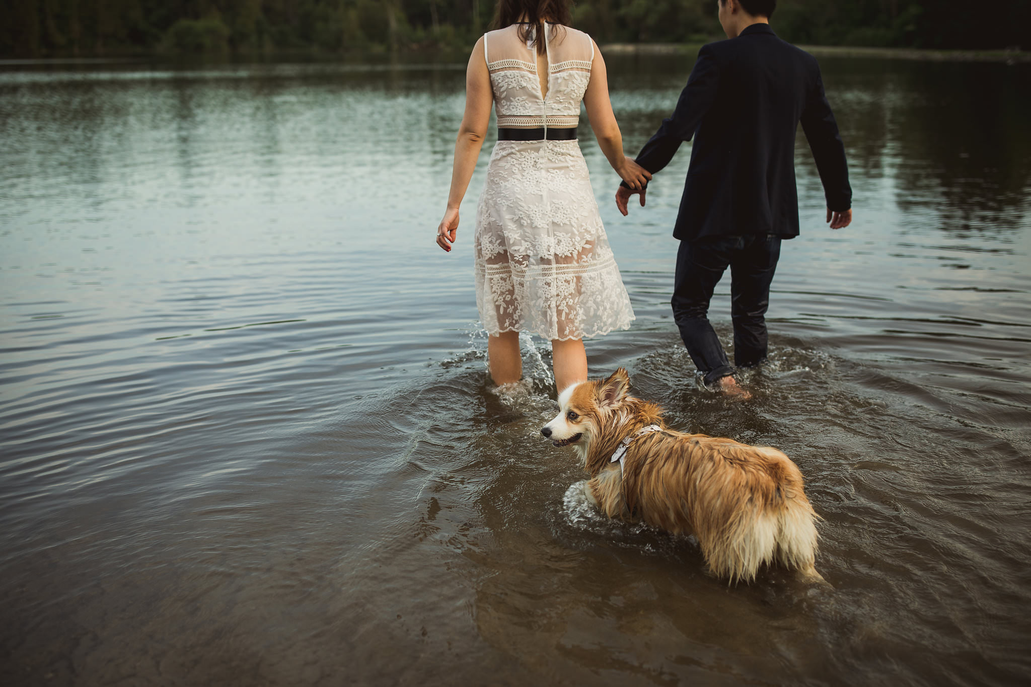 engagement photos in the water