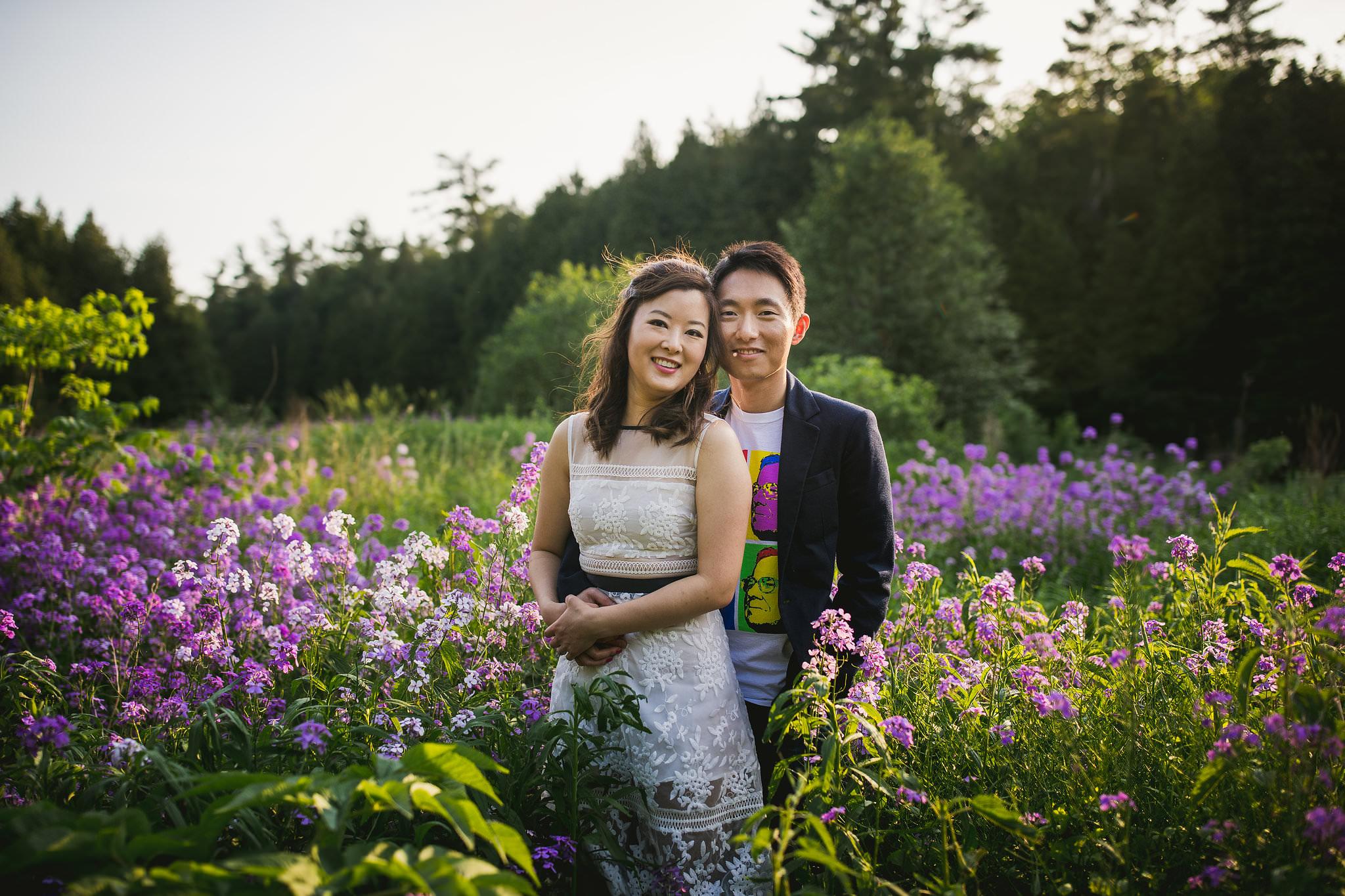 terre blue lavender farm engagement