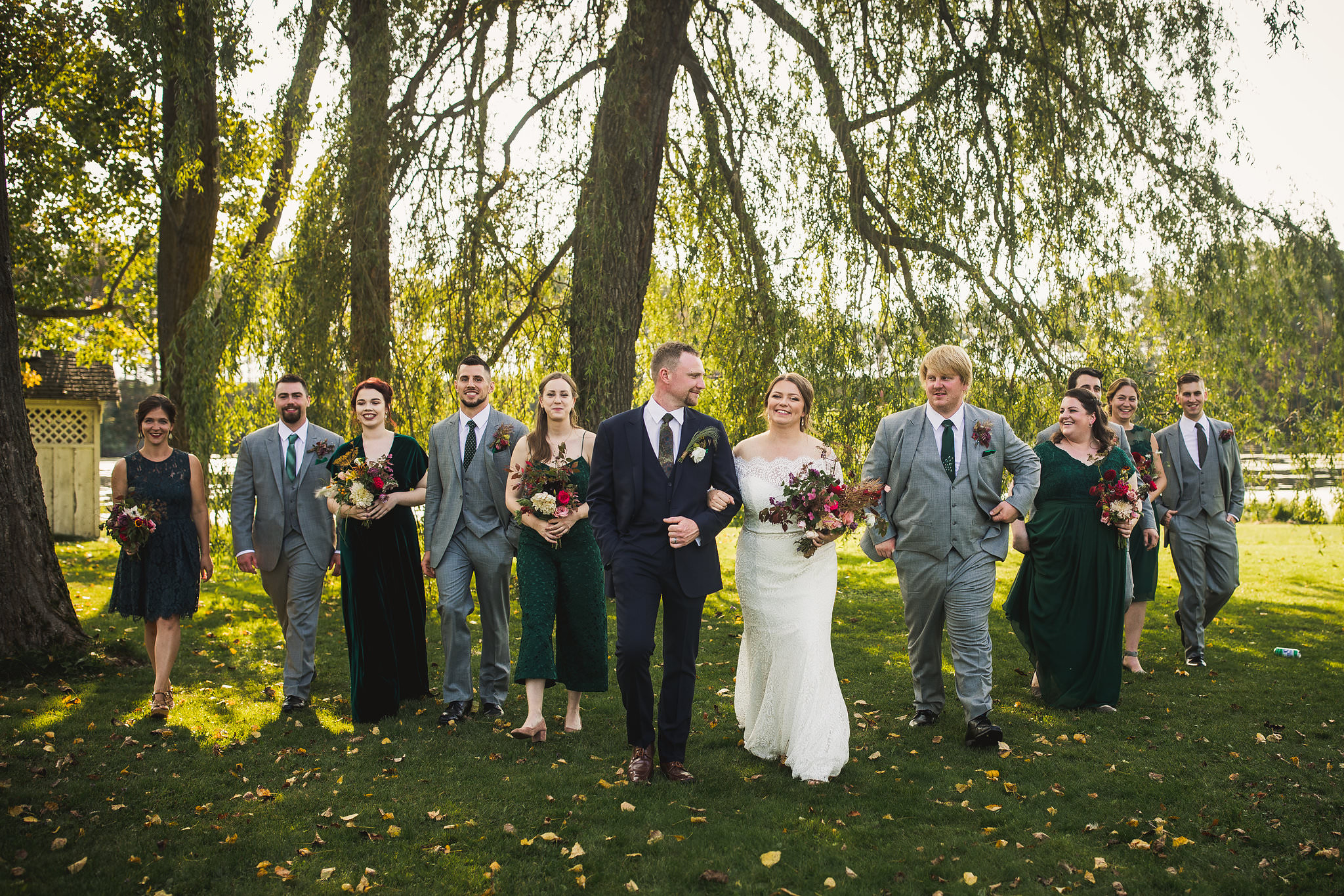 bridal party photos at tralee wedding facility