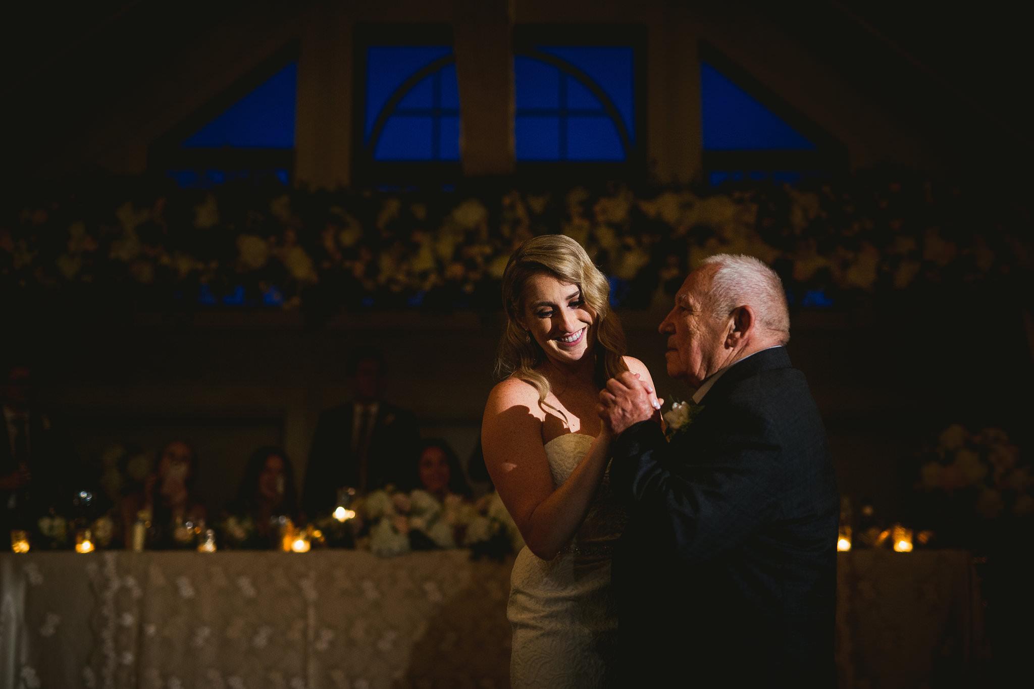 bride and grandpa first dance