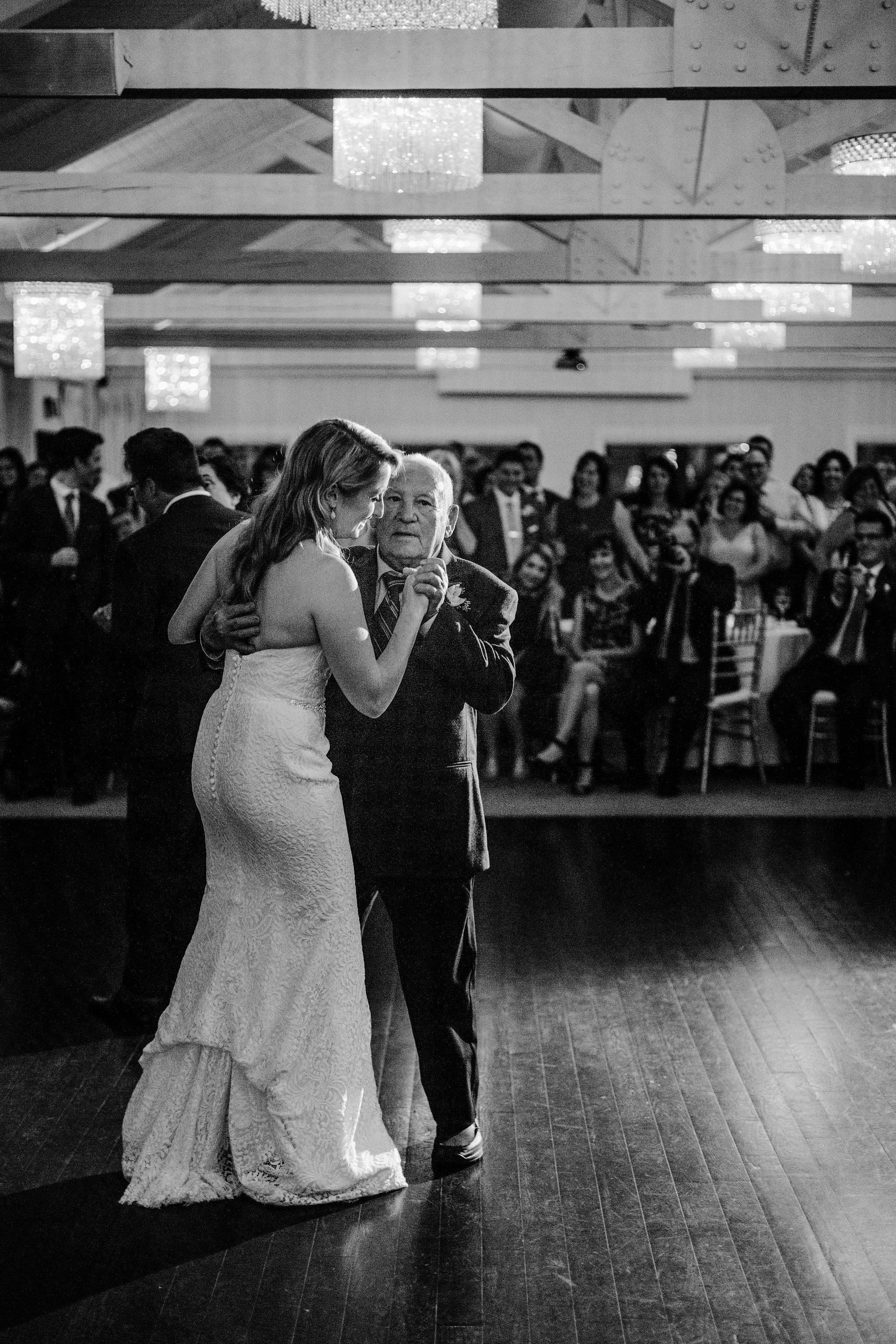 bride and grandfather dance