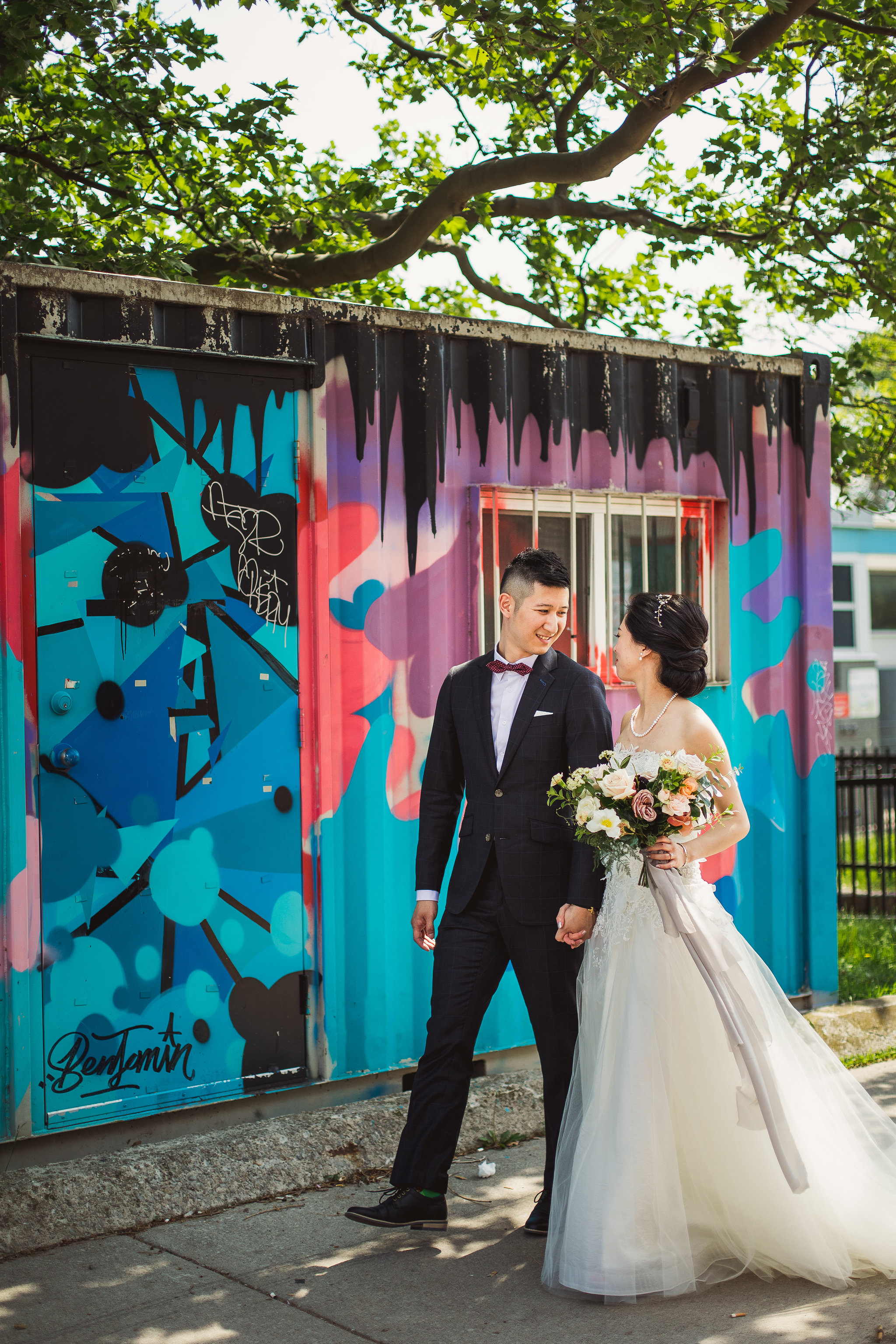 graffiti alley wedding