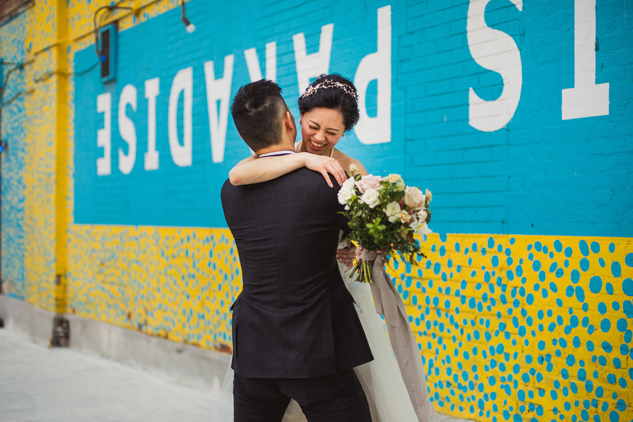 graffiti alley wedding photos