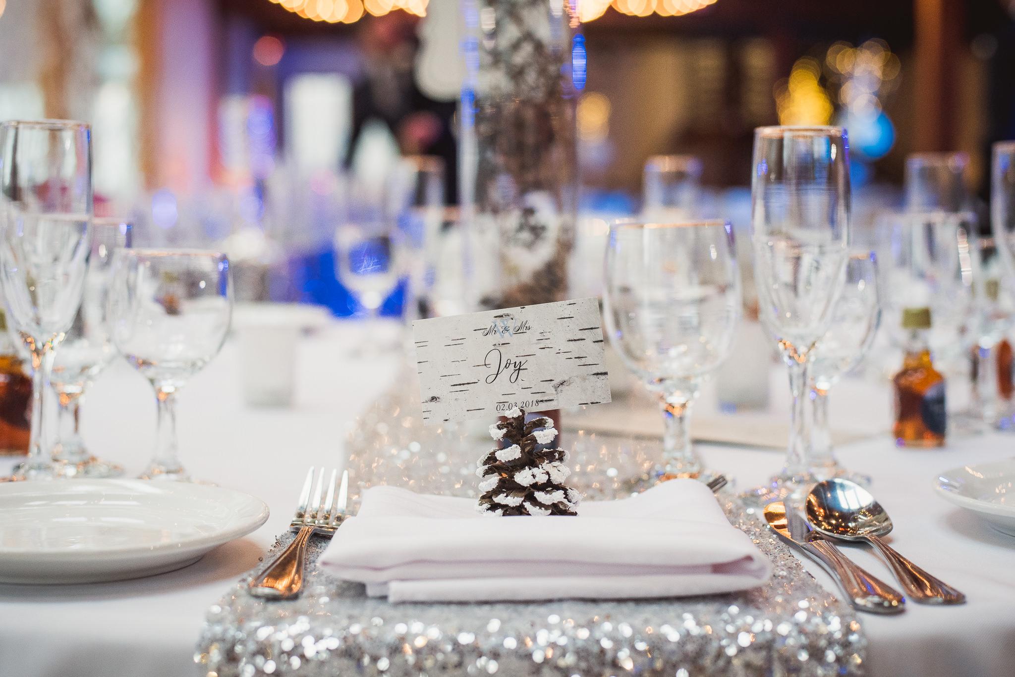 kortight center winter wedding photos