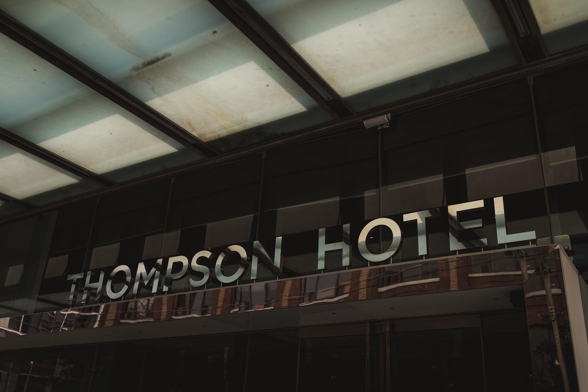 thompson hotel wedding toronto