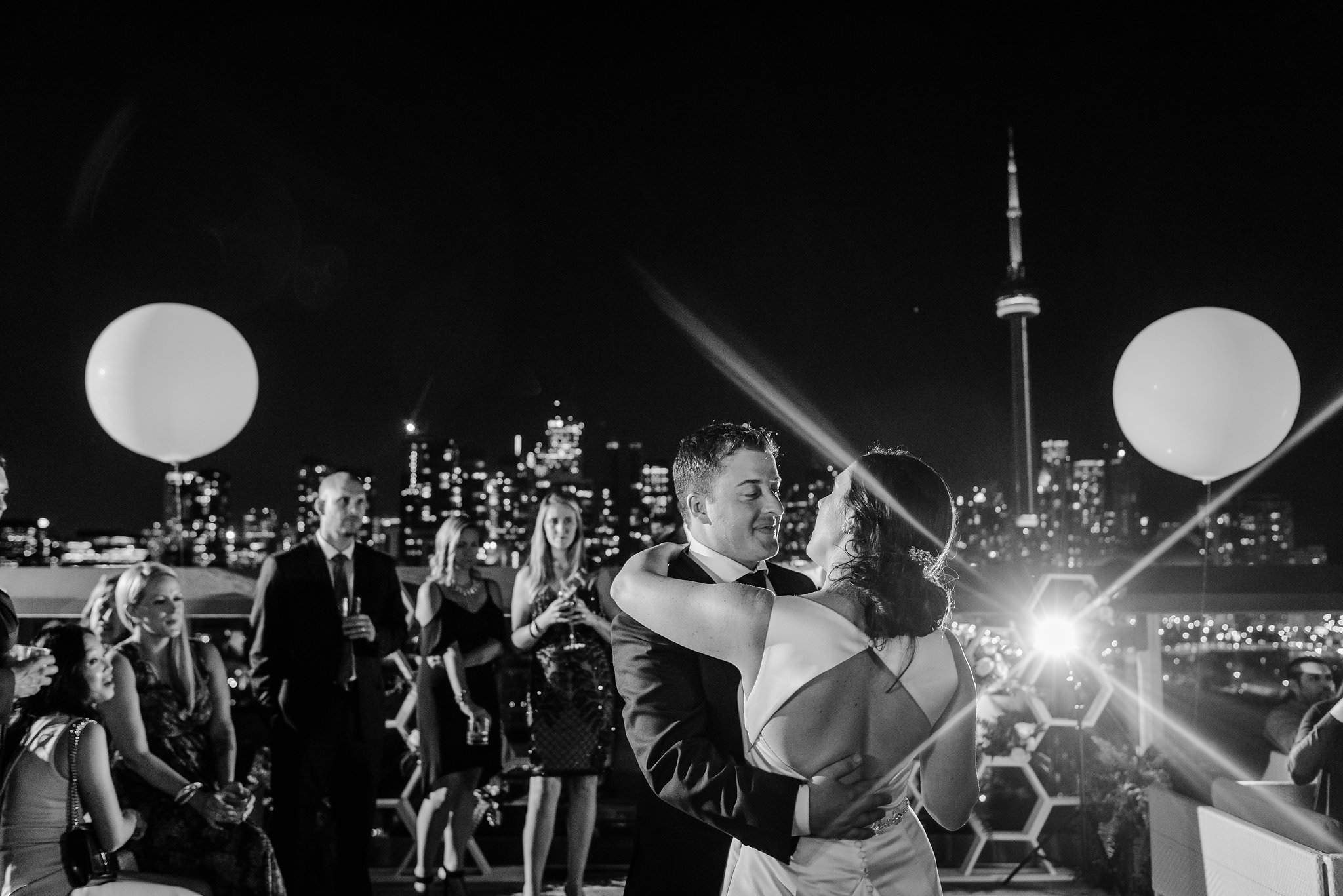 thompson hotel rooftop wedding