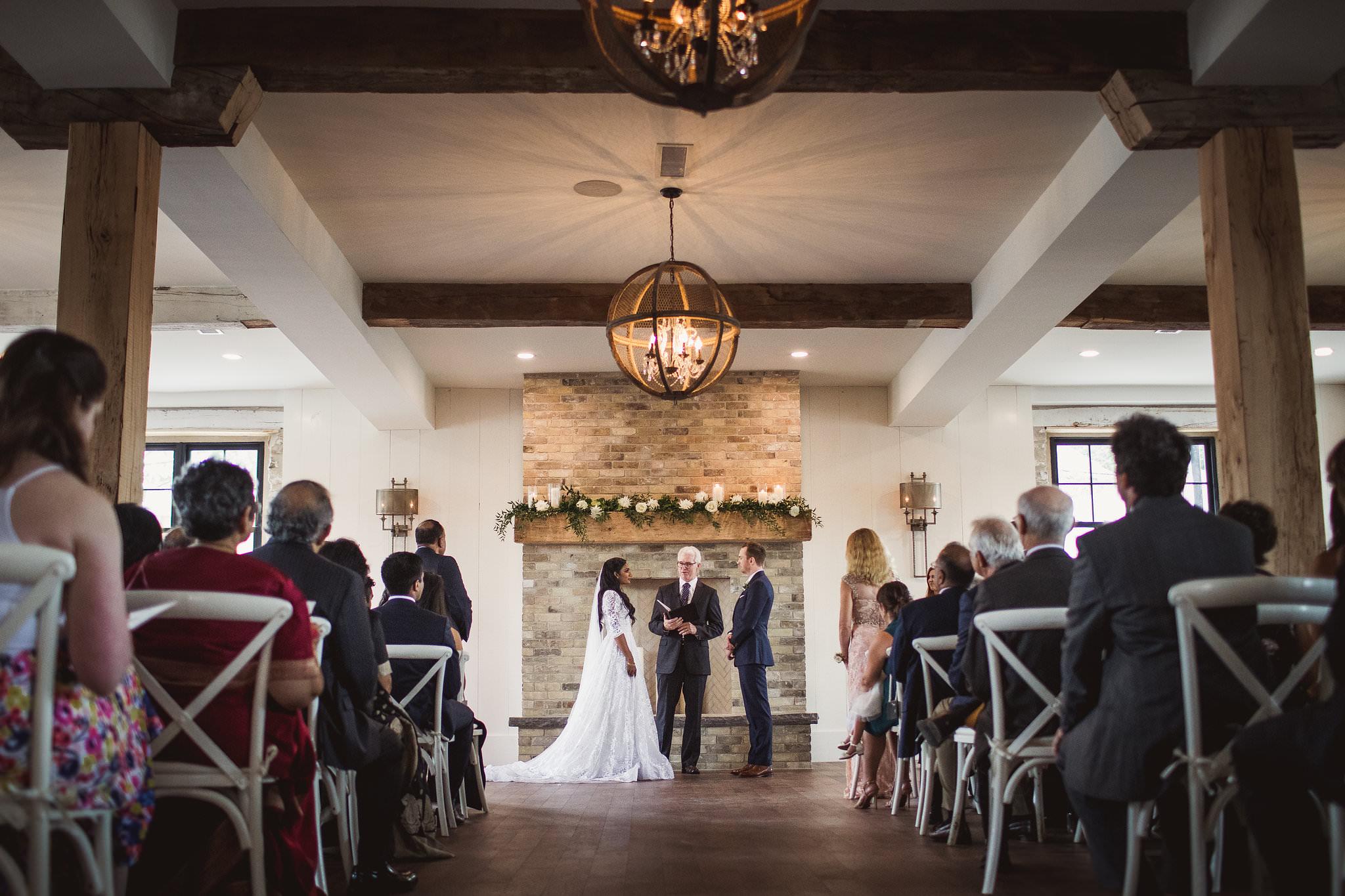 elora mill wedding ceremony building