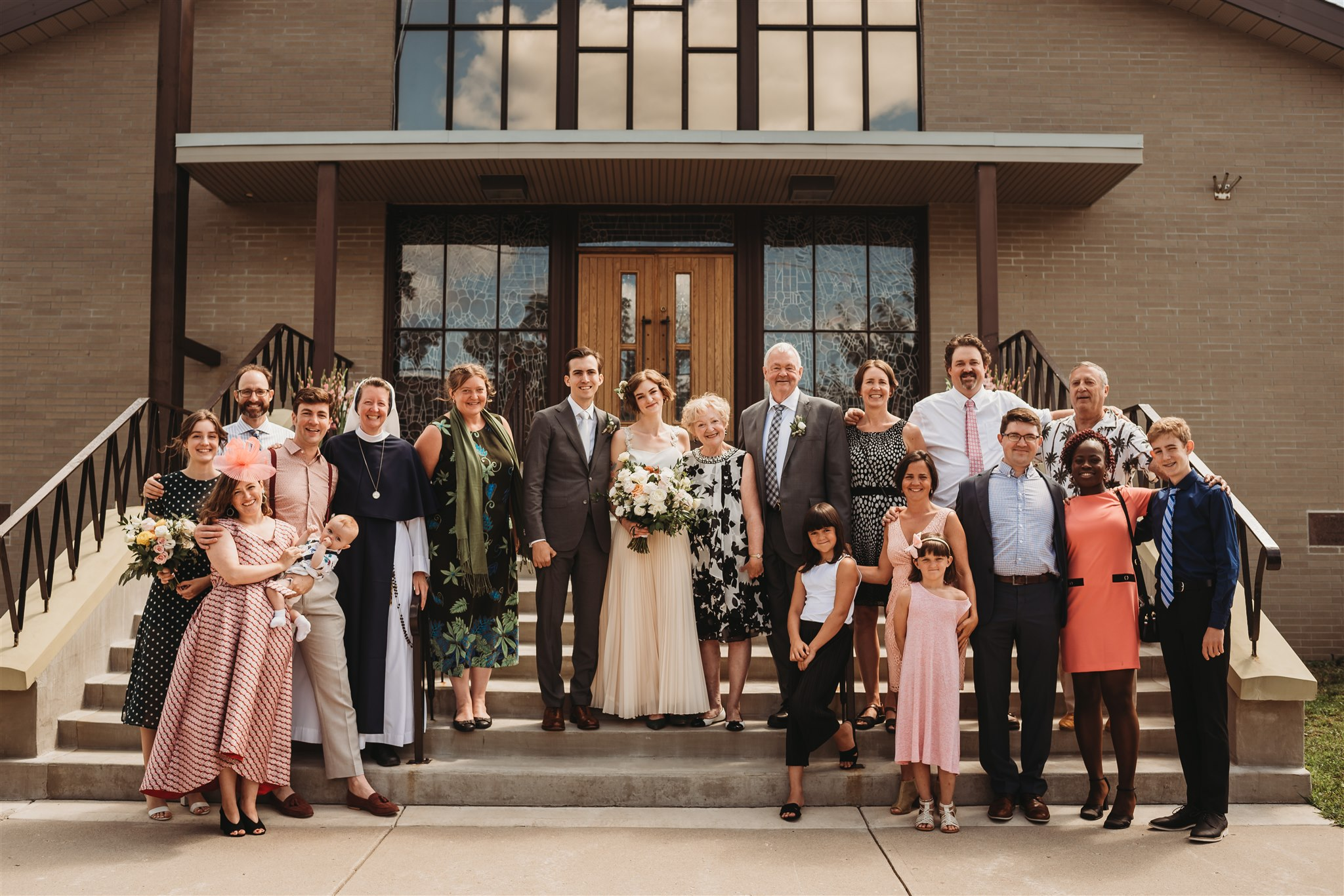 formal wedding photos at our lady of czestochowa polish catholic church