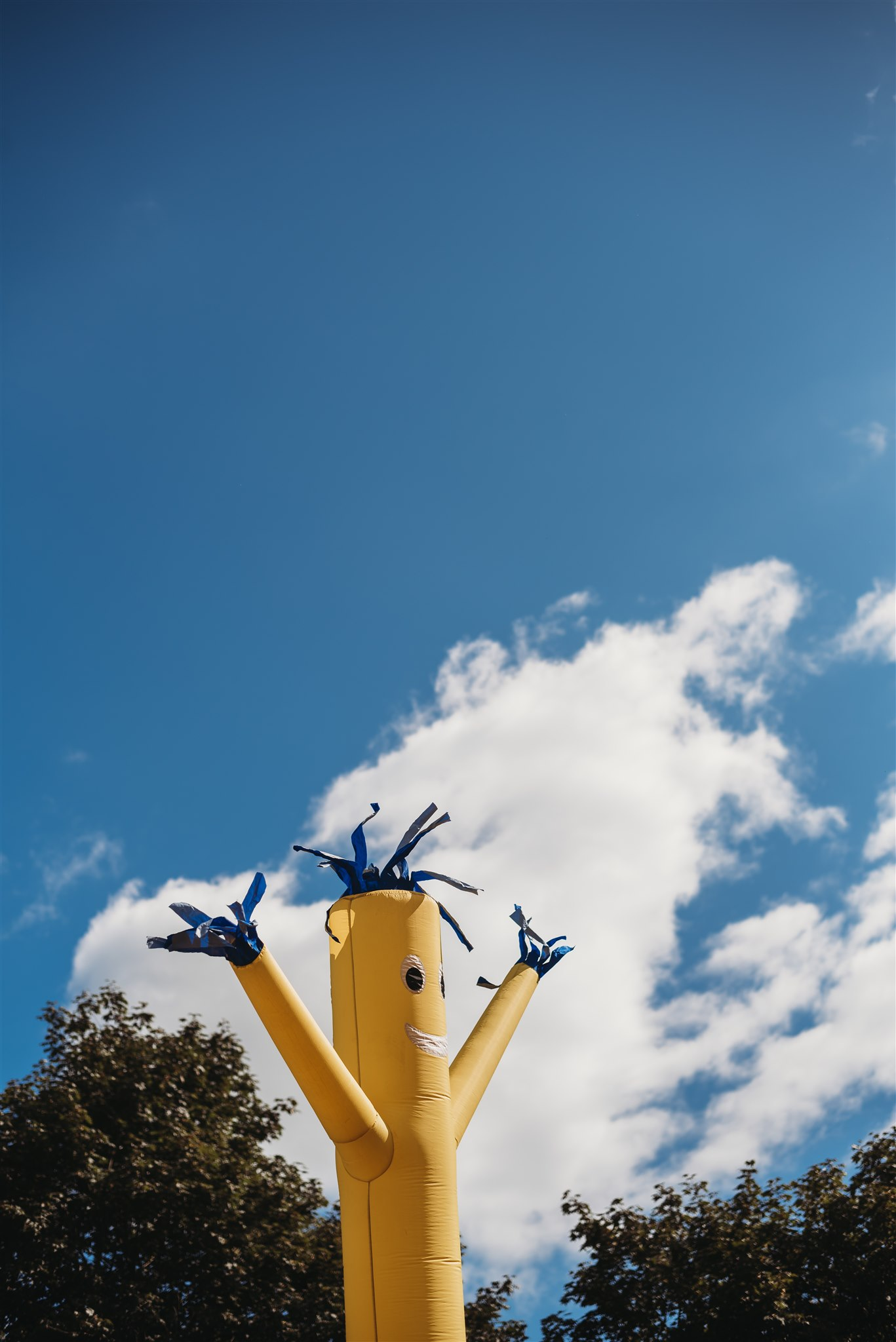 wacky waving inflatable arm flailing tube man at wedding