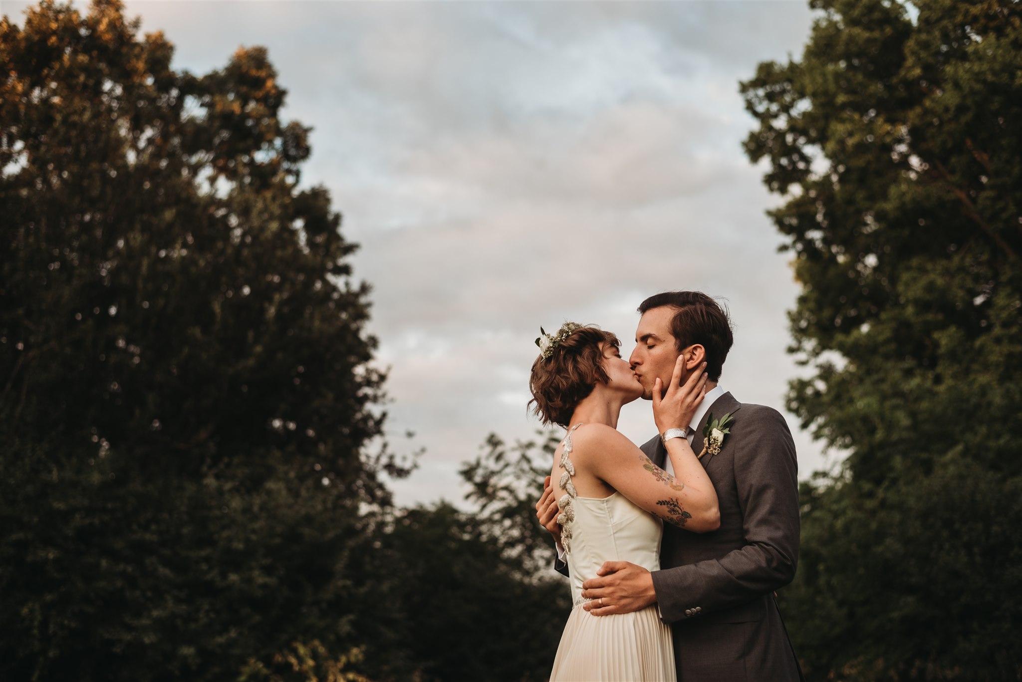 conservation area sunset wedding photos