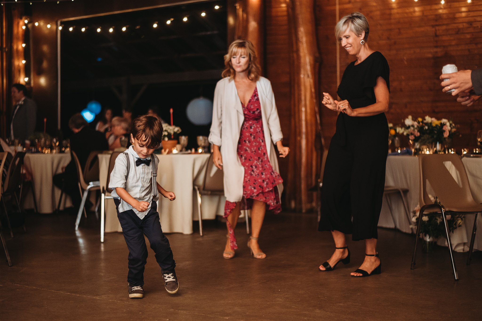 dancing during wedding reception at the watson porter pavillion in the fanshawe conservation area