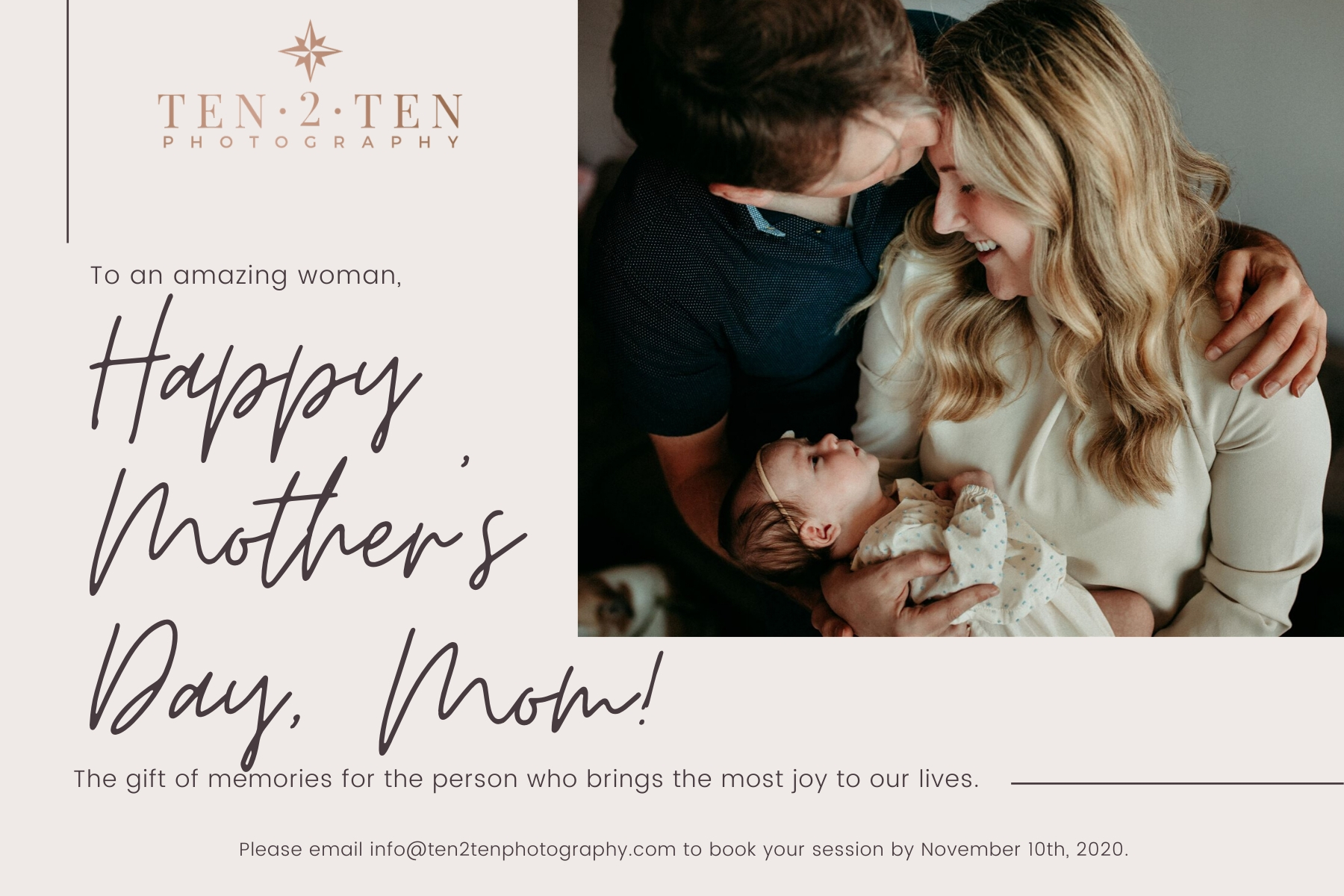 Copy of Photo Mothers Day Instagram Post - Toronto Family Photographer: Documenting your Story