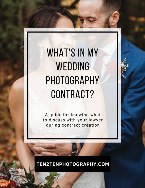 Whats In my Contract Workbook - What's In a Photography Contract? A Guidebook for Photographers