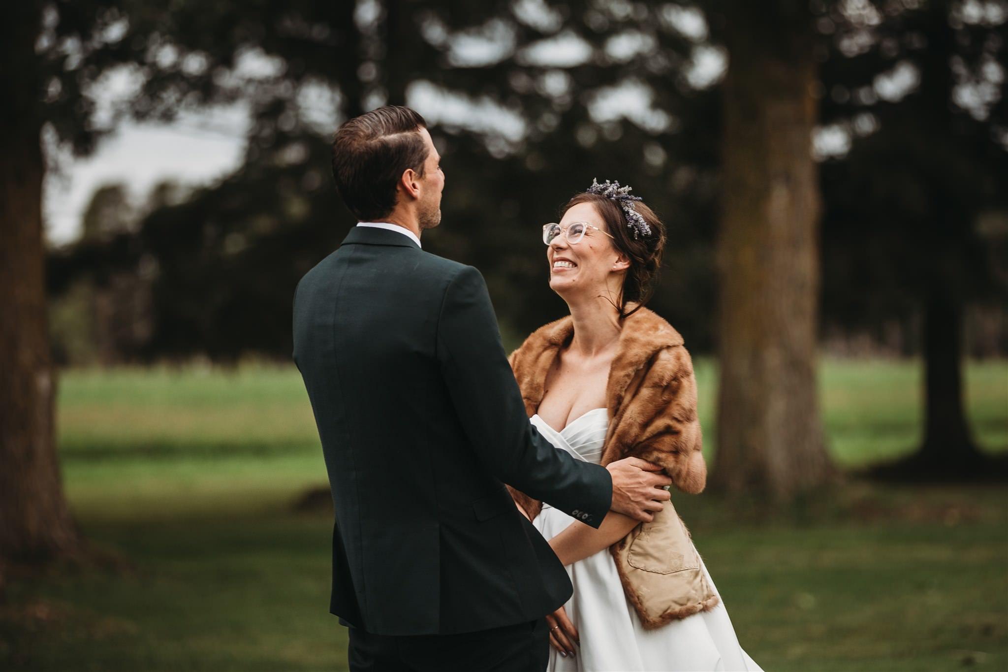 intimate lavender farm wedding, arthur lavender farm, covid wedding photos