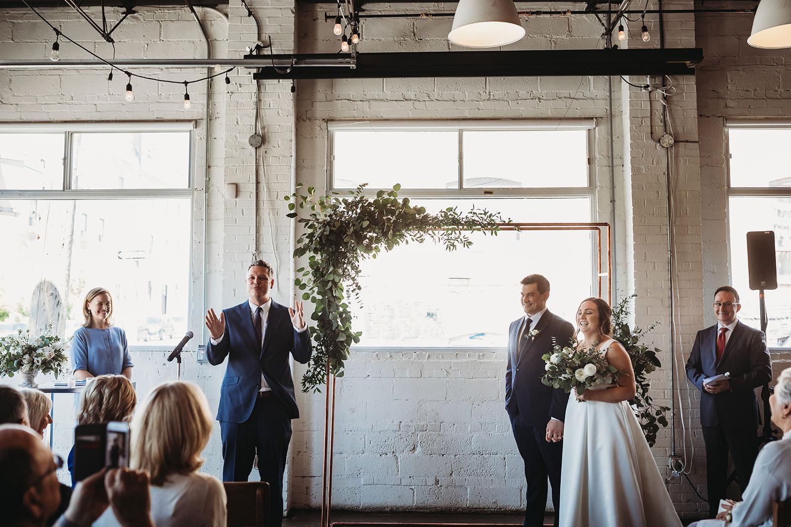 propeller coffee wedding, propeller coffee co., coffee shop wedding