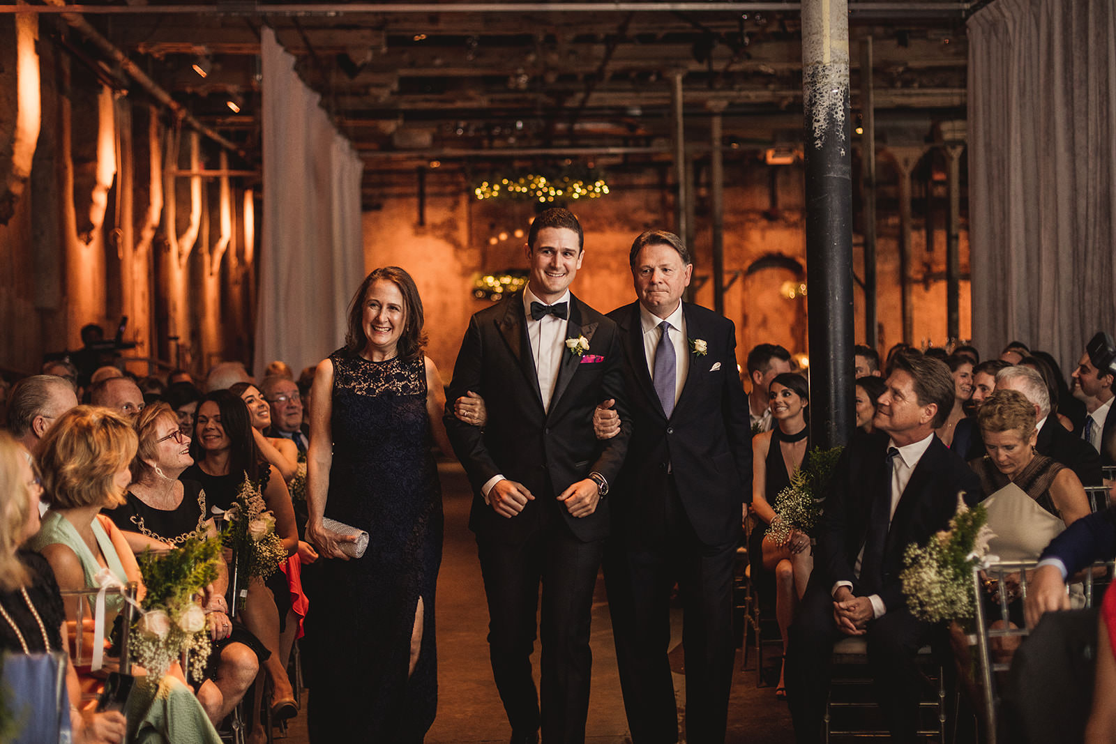 wedding ceremony in the fermenting cellar distrillery district