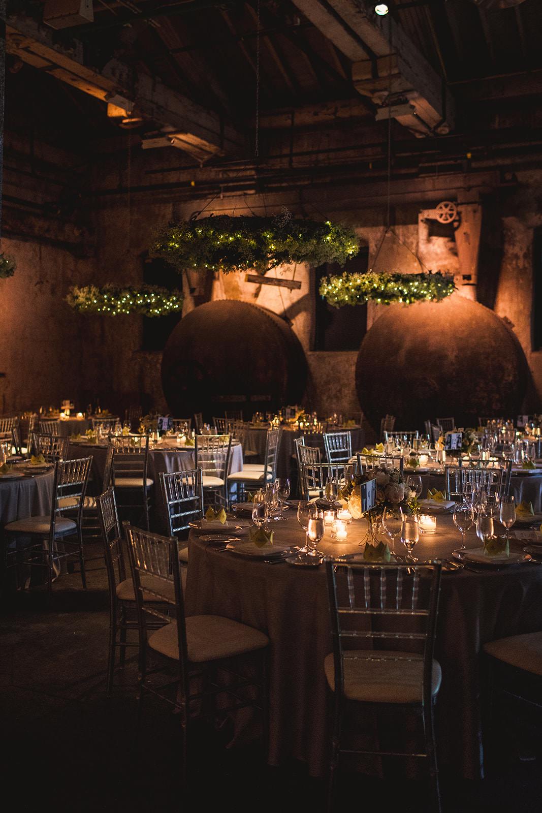 romantic fermenting cellar wedding photos