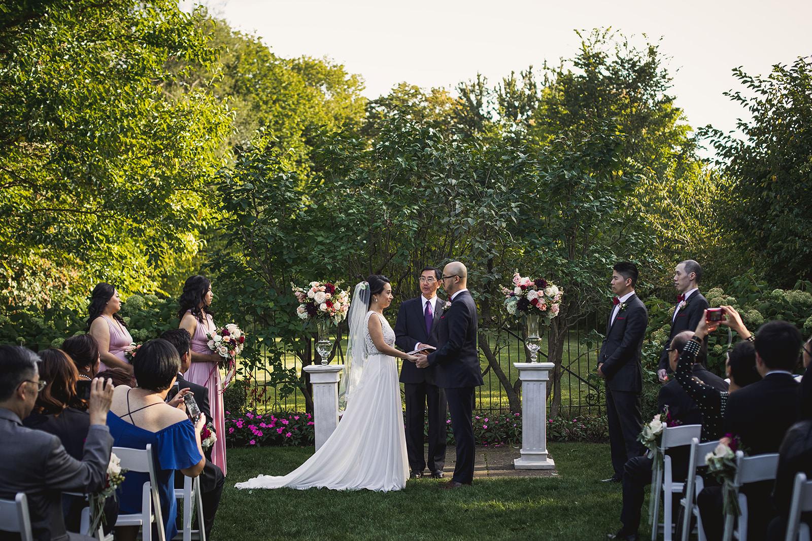 graydon hall wedding ceremony outside