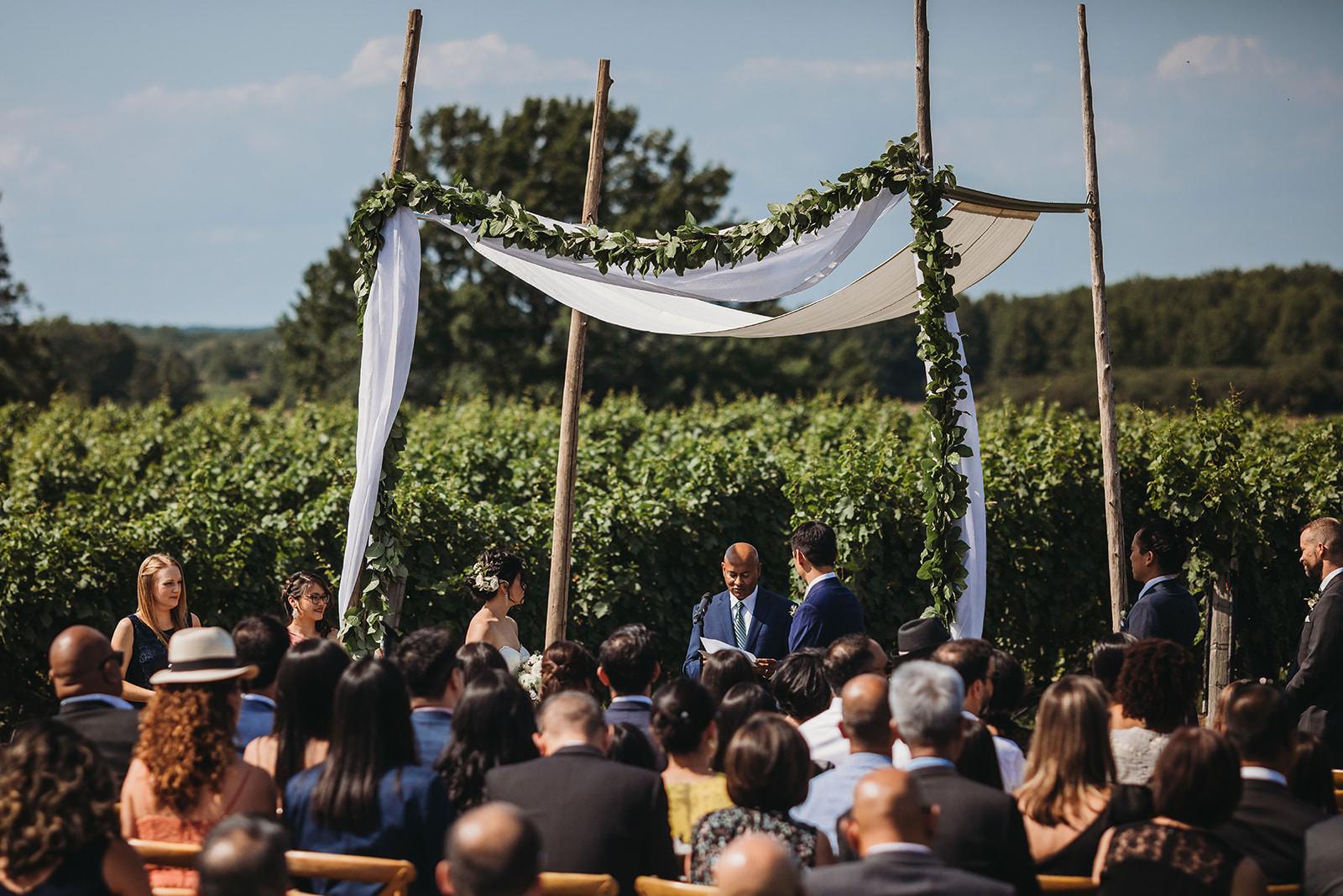 Vineyard Wedding Outdoor Wedding Ceremony